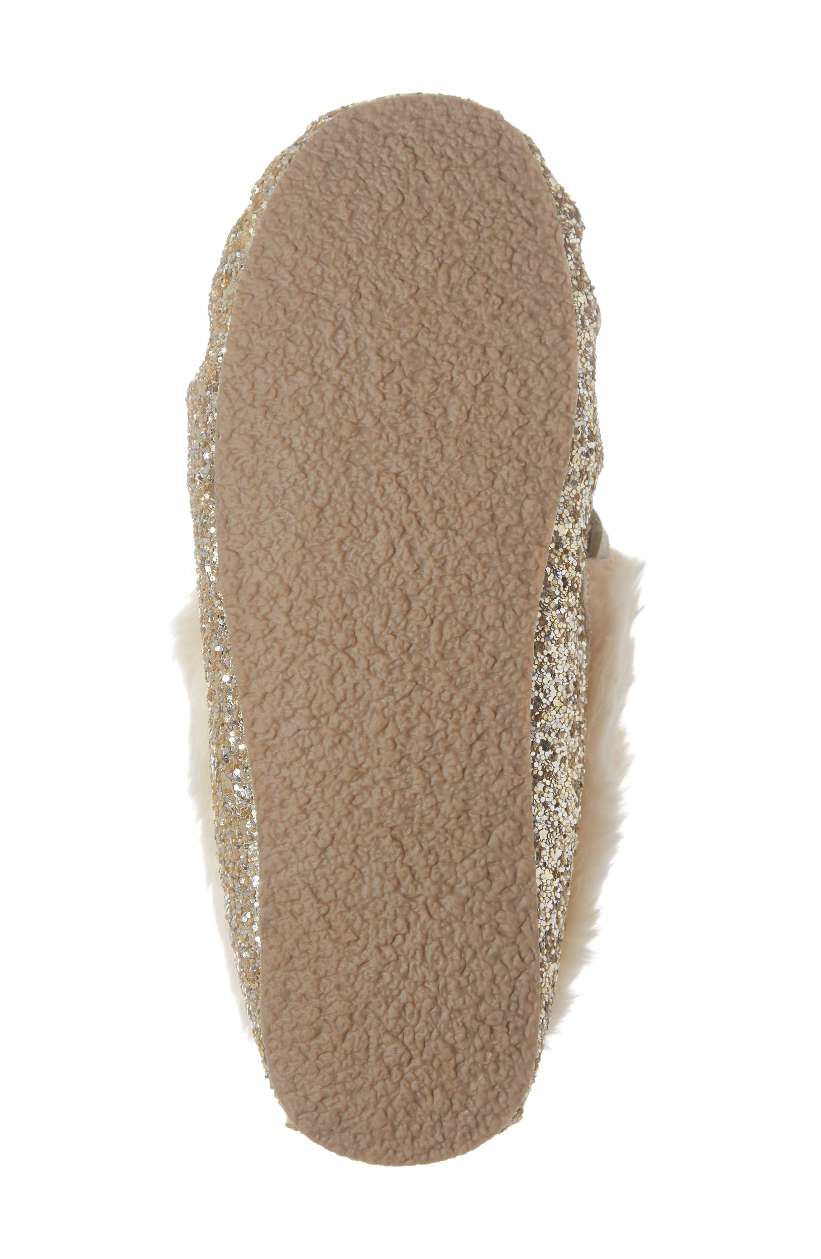 CREWCUTS BY J.CREW,                             Glitter Moccasin Slipper,                             Alternate thumbnail 6, color,                             710