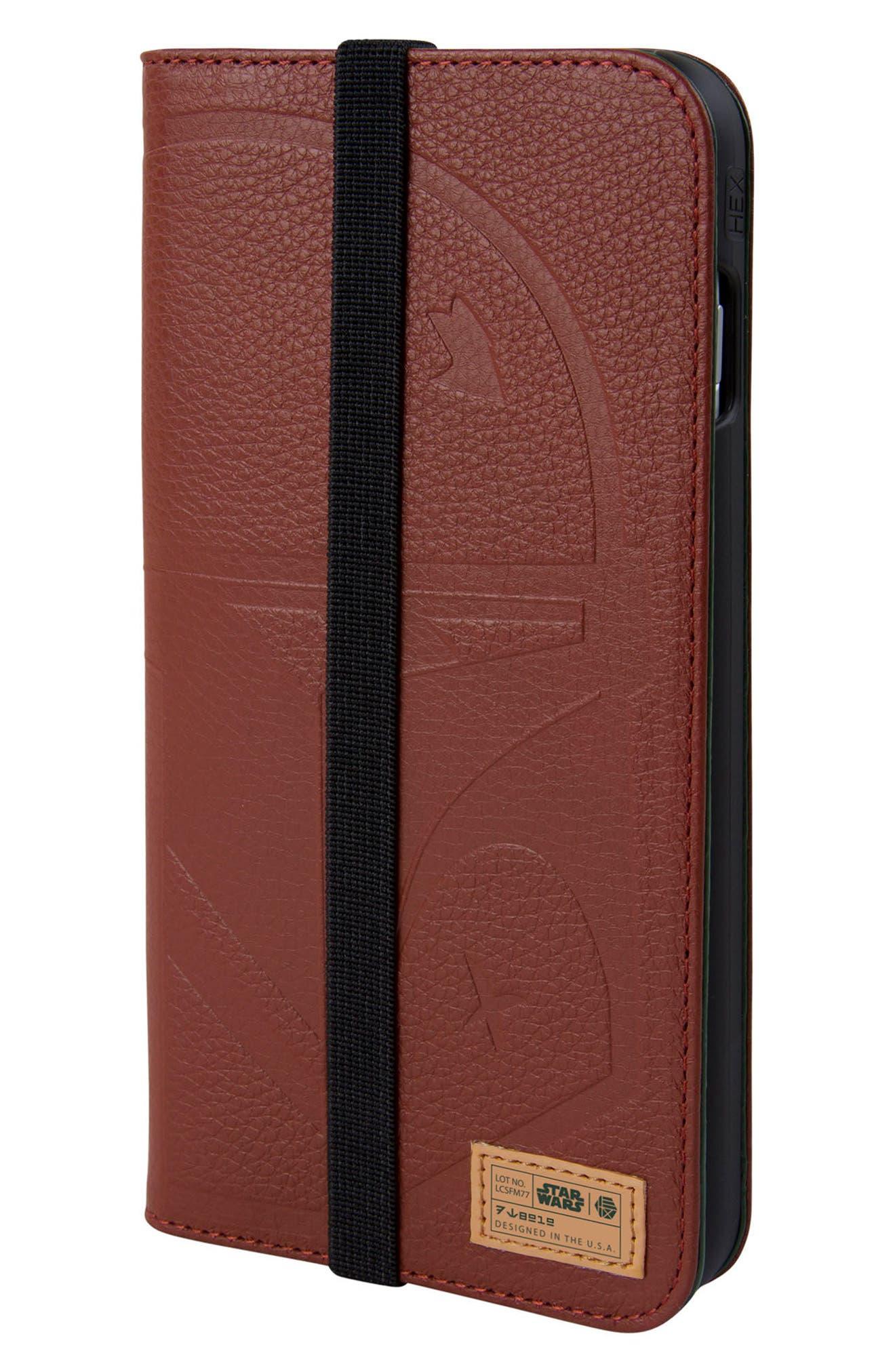 Boba Fett iPhone 8 Plus Wallet Case,                             Main thumbnail 1, color,                             932
