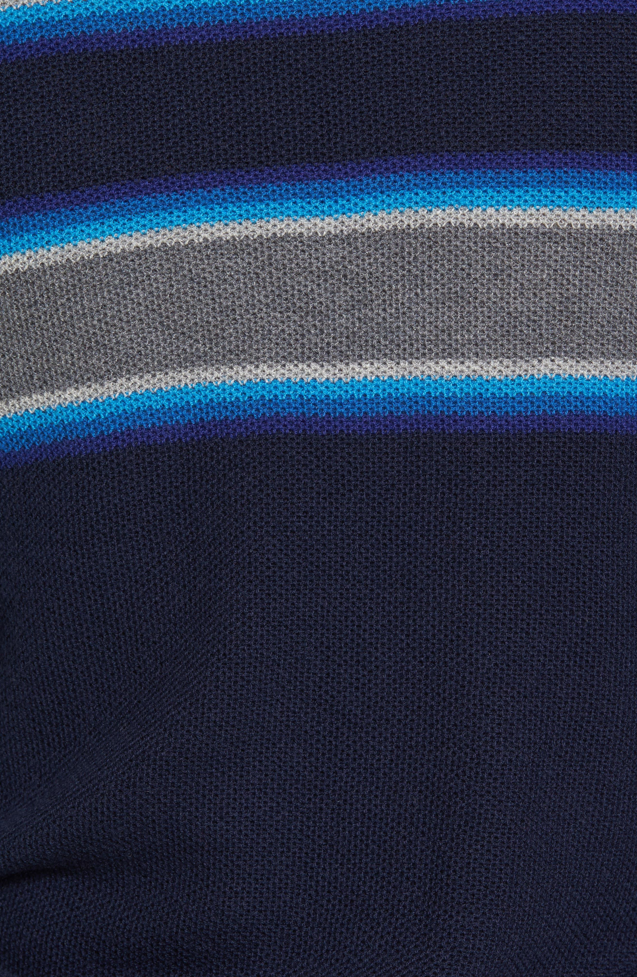 Stripe Merino Blend Sweater,                             Alternate thumbnail 5, color,                             416