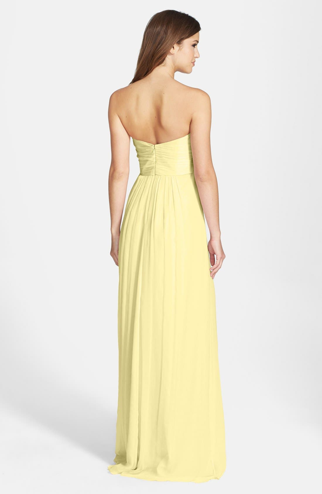 Strapless Crinkle Chiffon Gown,                             Main thumbnail 15, color,
