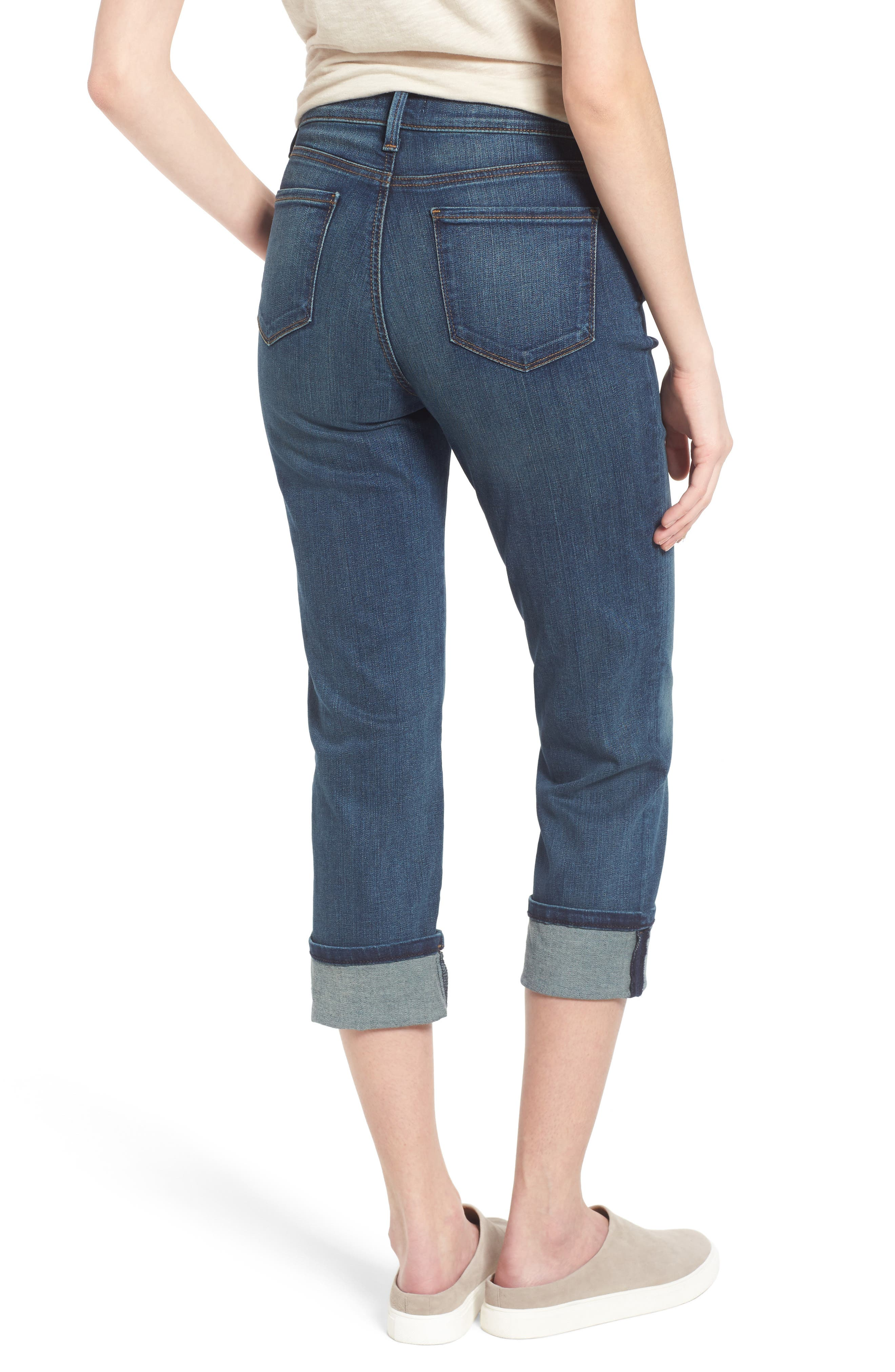 'Dayla' Colored Wide Cuff Capri Jeans,                             Alternate thumbnail 25, color,