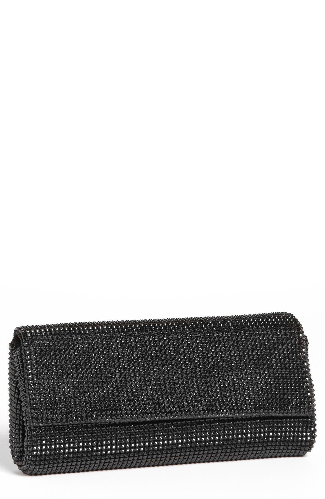 'Pyramid' Mesh Clutch,                             Main thumbnail 1, color,                             BLACK