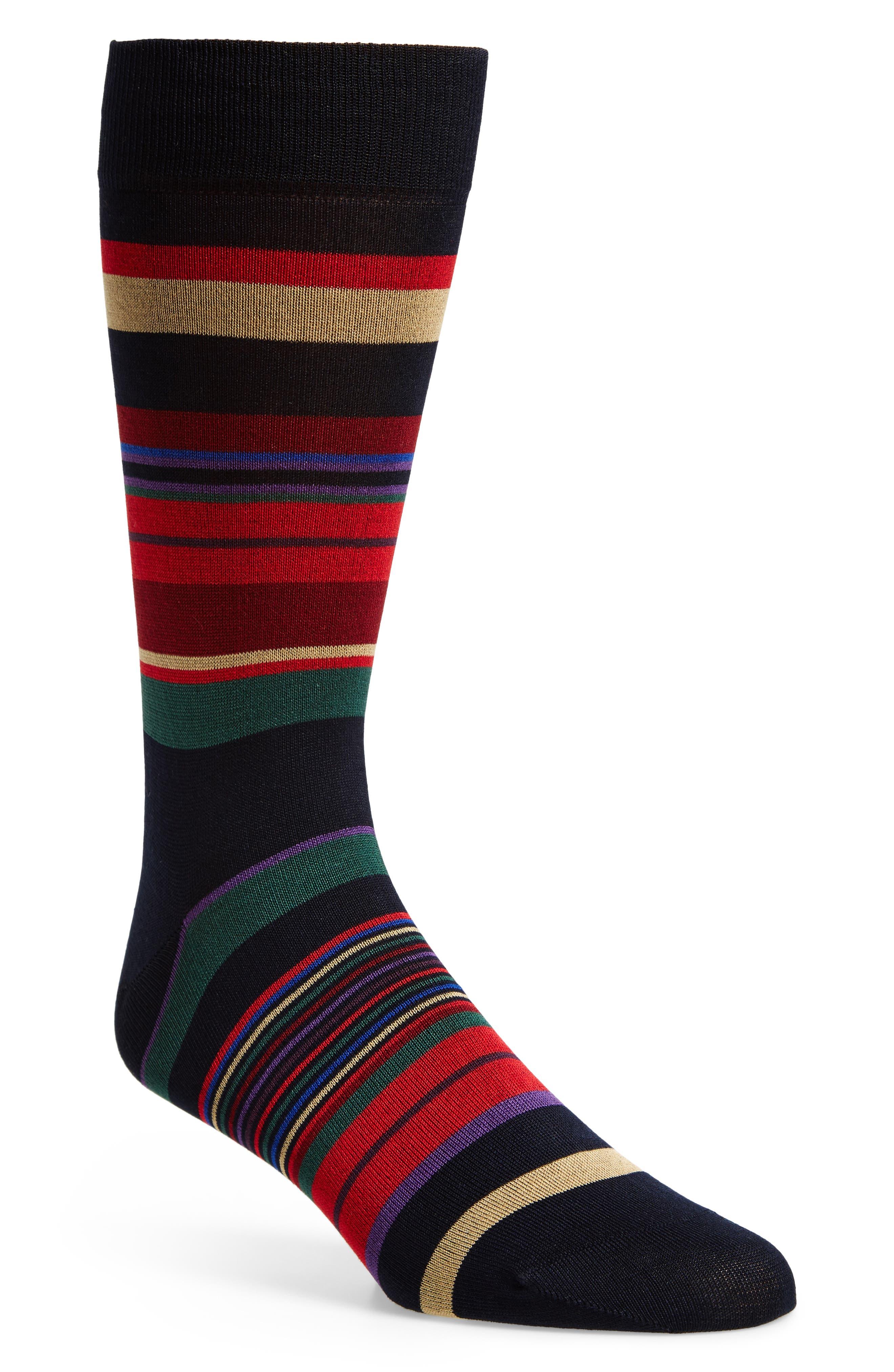 Stripe Crew Socks,                         Main,                         color, 410
