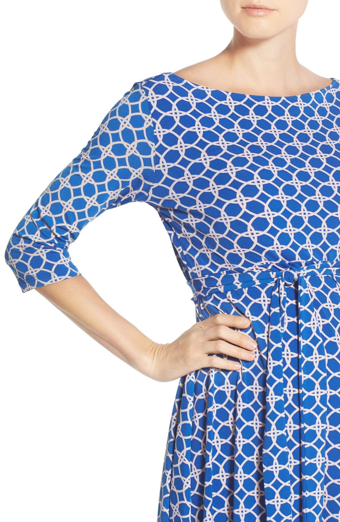 'Ilana' Belted Maternity Dress,                             Alternate thumbnail 27, color,