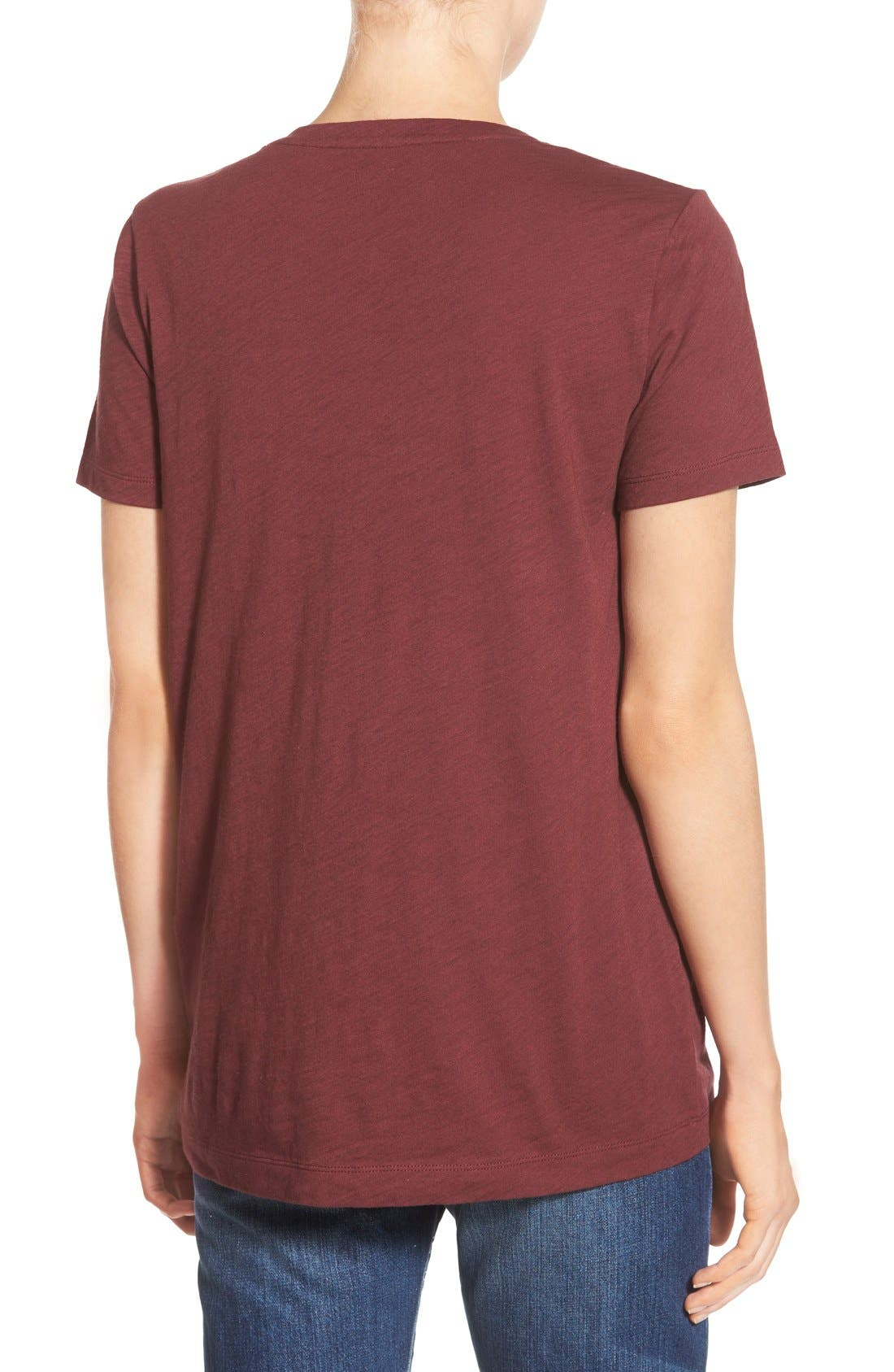 Whisper Cotton V-Neck Pocket Tee,                             Alternate thumbnail 86, color,