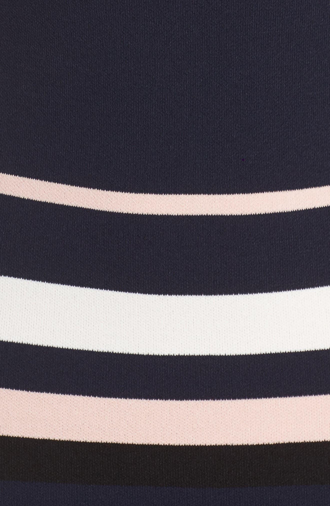 Stripe Sweater Dress,                             Alternate thumbnail 5, color,                             498