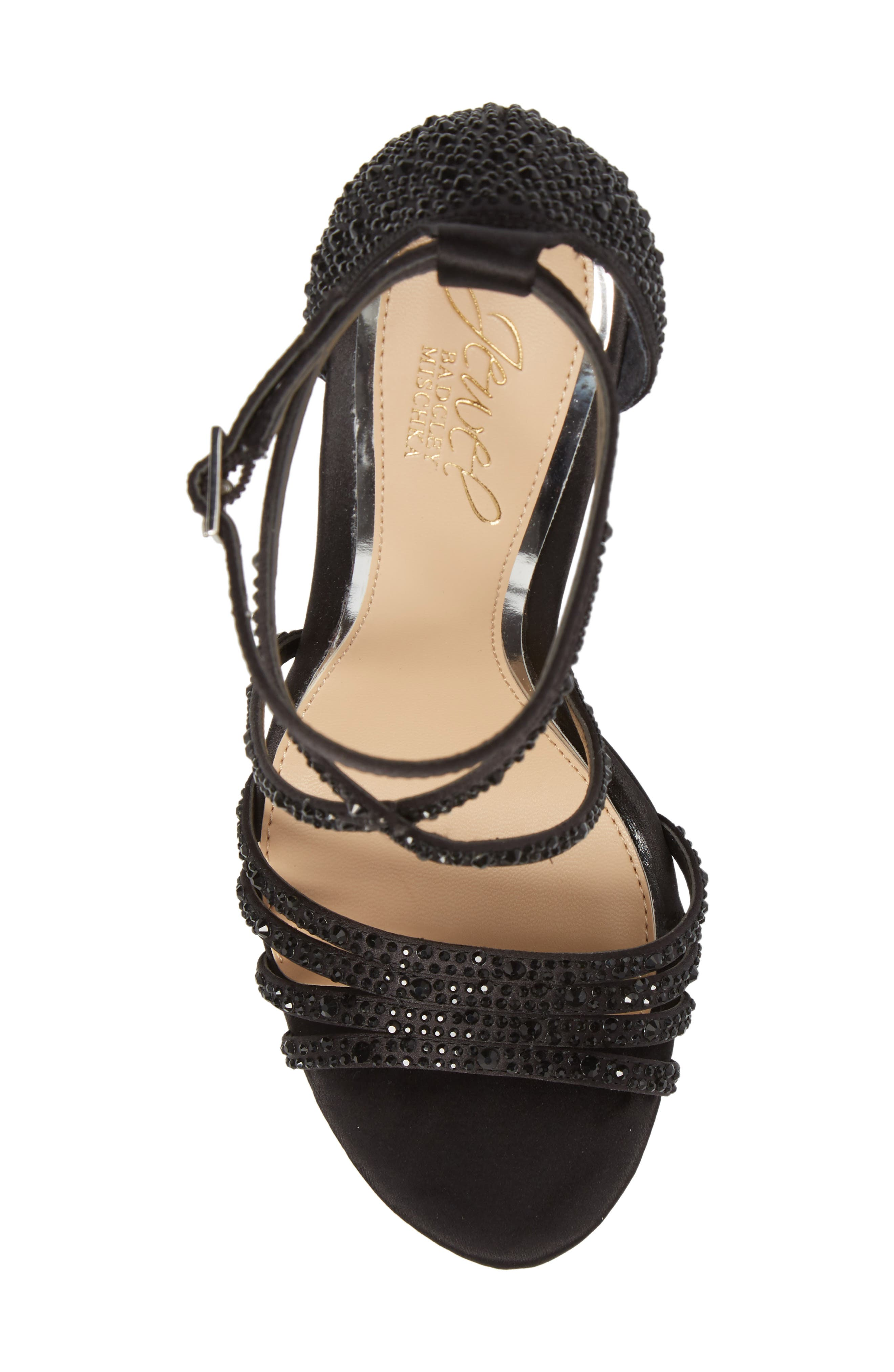 Tarah Crystal Embellished Platform Sandal,                             Alternate thumbnail 13, color,