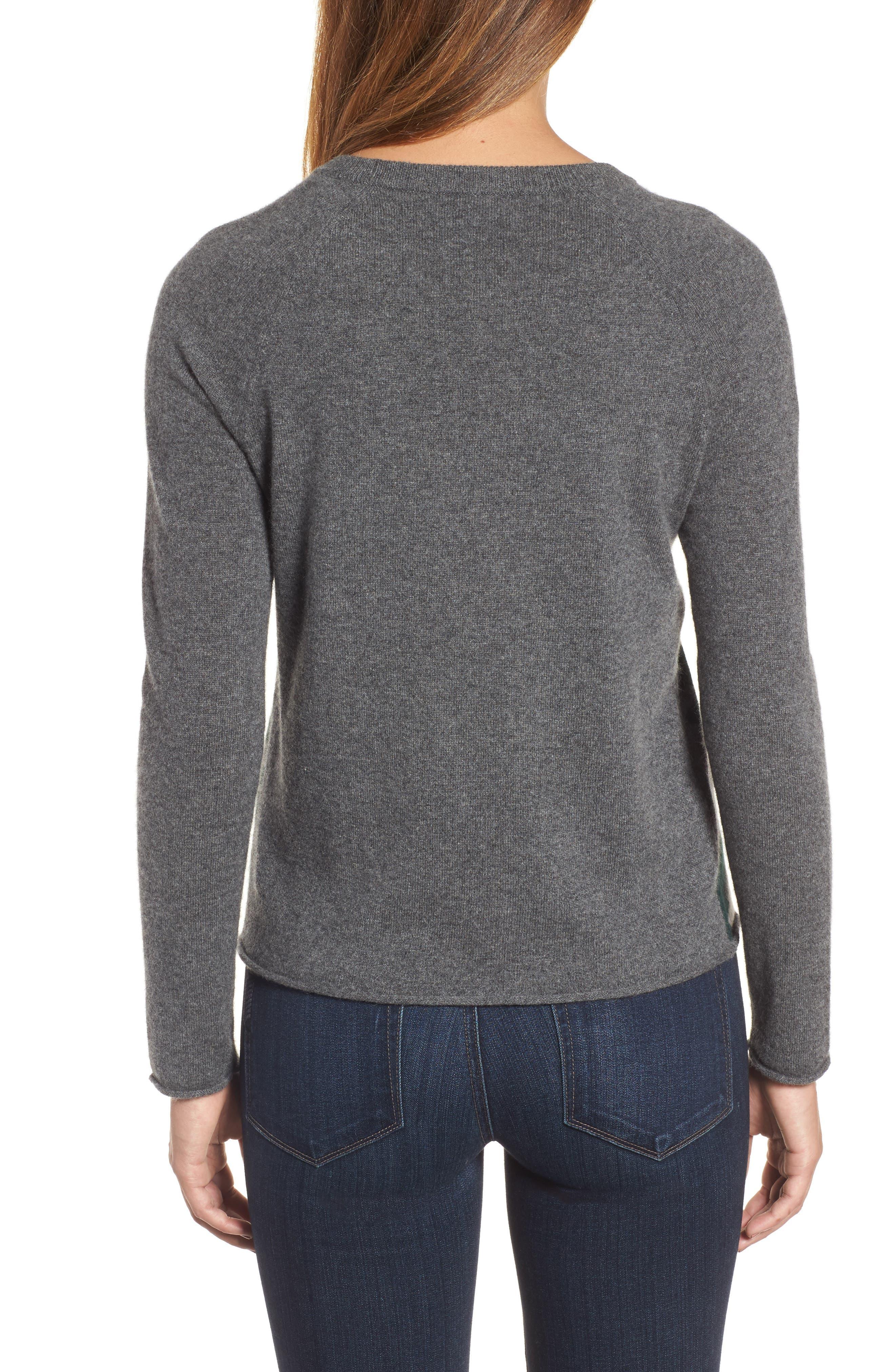 Camo Cashmere Sweater,                             Alternate thumbnail 2, color,