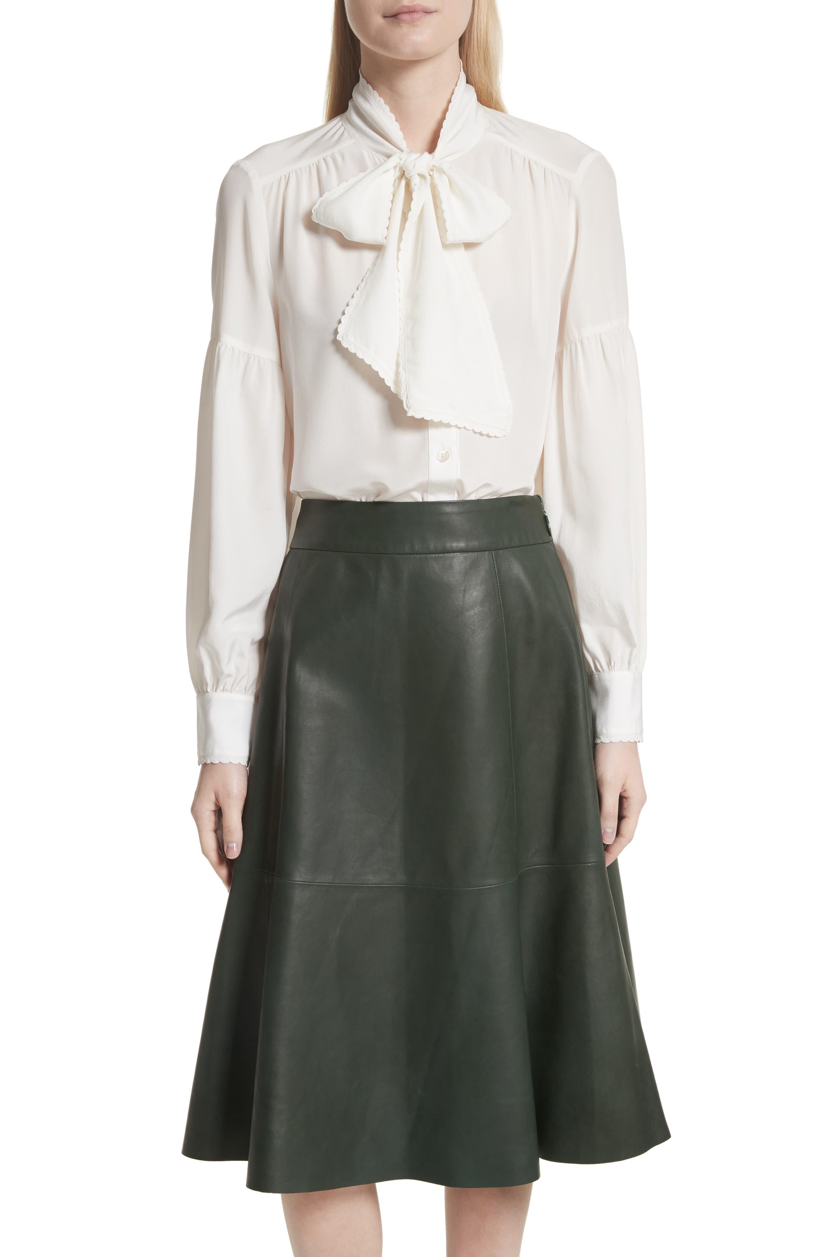myrah tie neck silk blouse,                         Main,                         color, 902