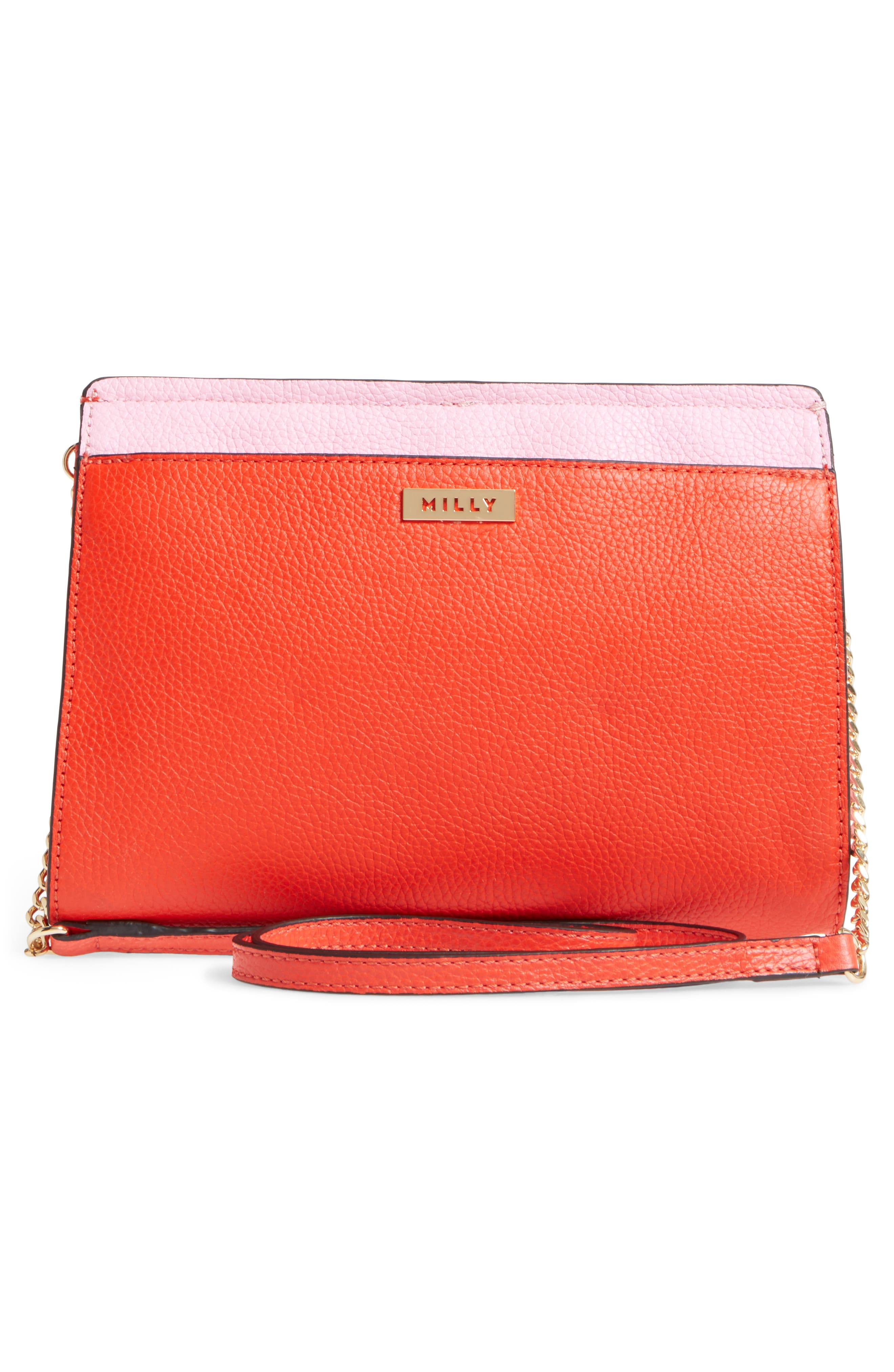 Astor Pebbled Leather Flap Clutch,                             Alternate thumbnail 12, color,