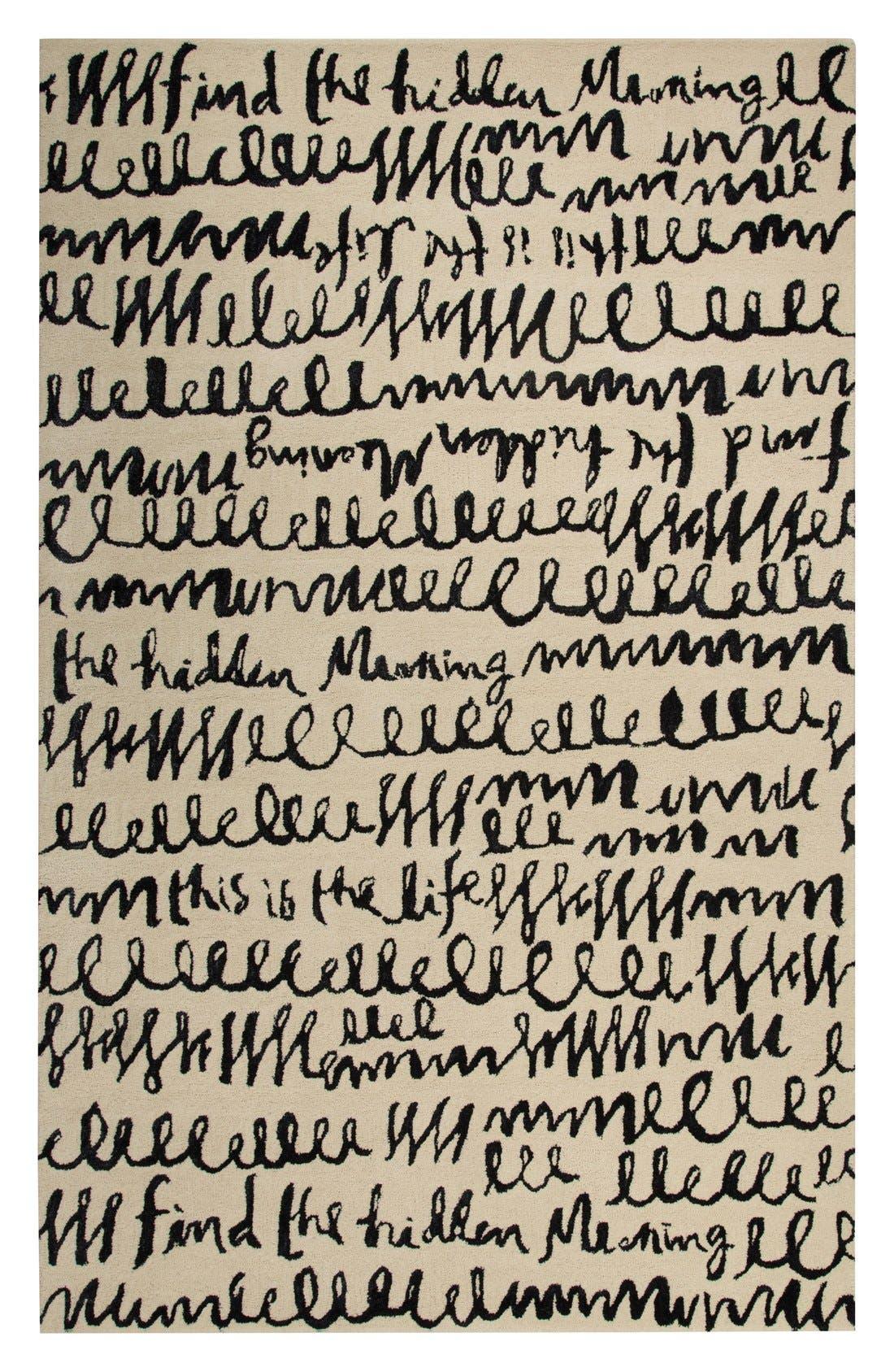 'gramercy' wool & silk area rug,                             Alternate thumbnail 3, color,                             900