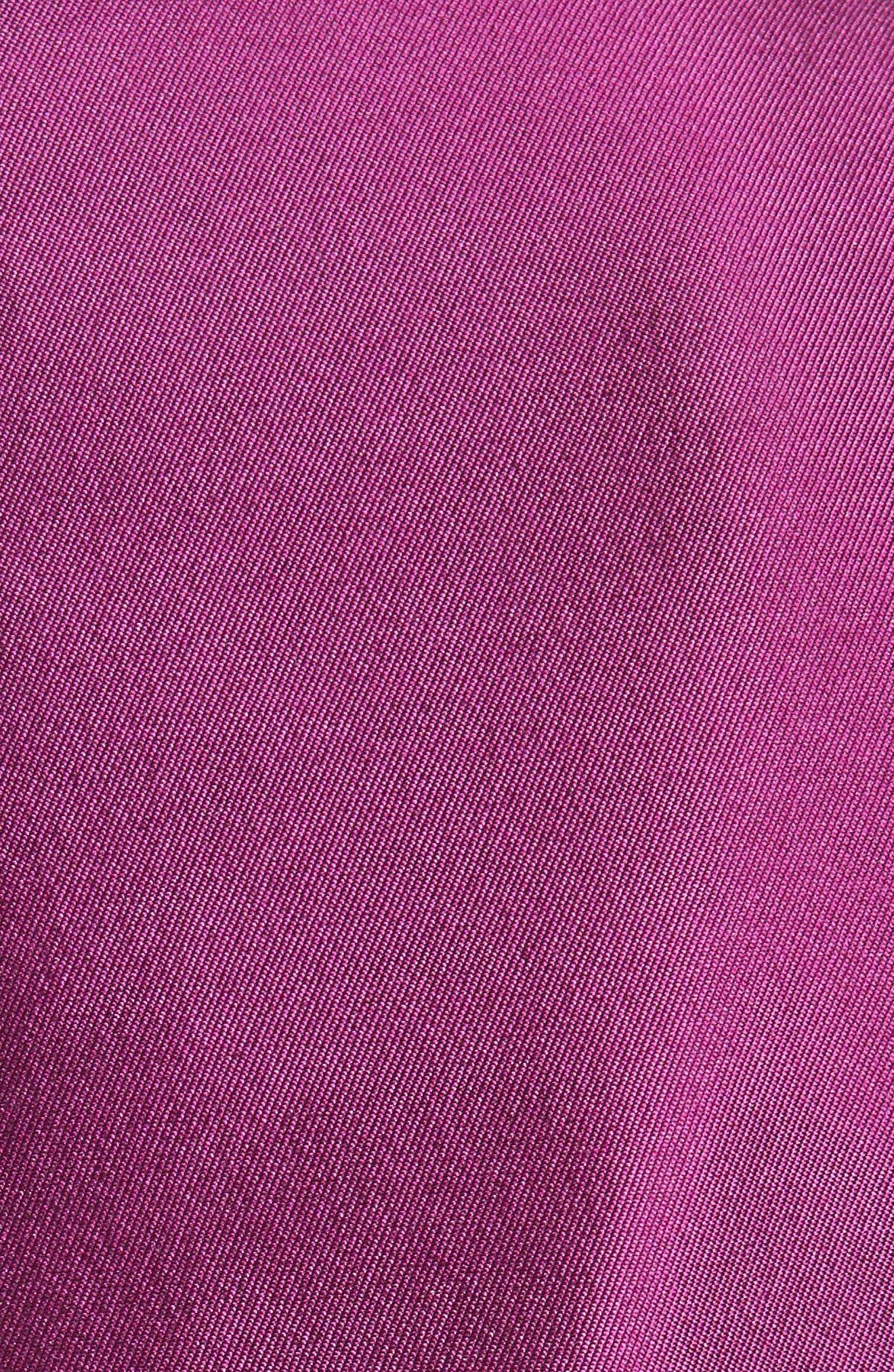 Fit & Flare Faille Dress,                             Alternate thumbnail 5, color,