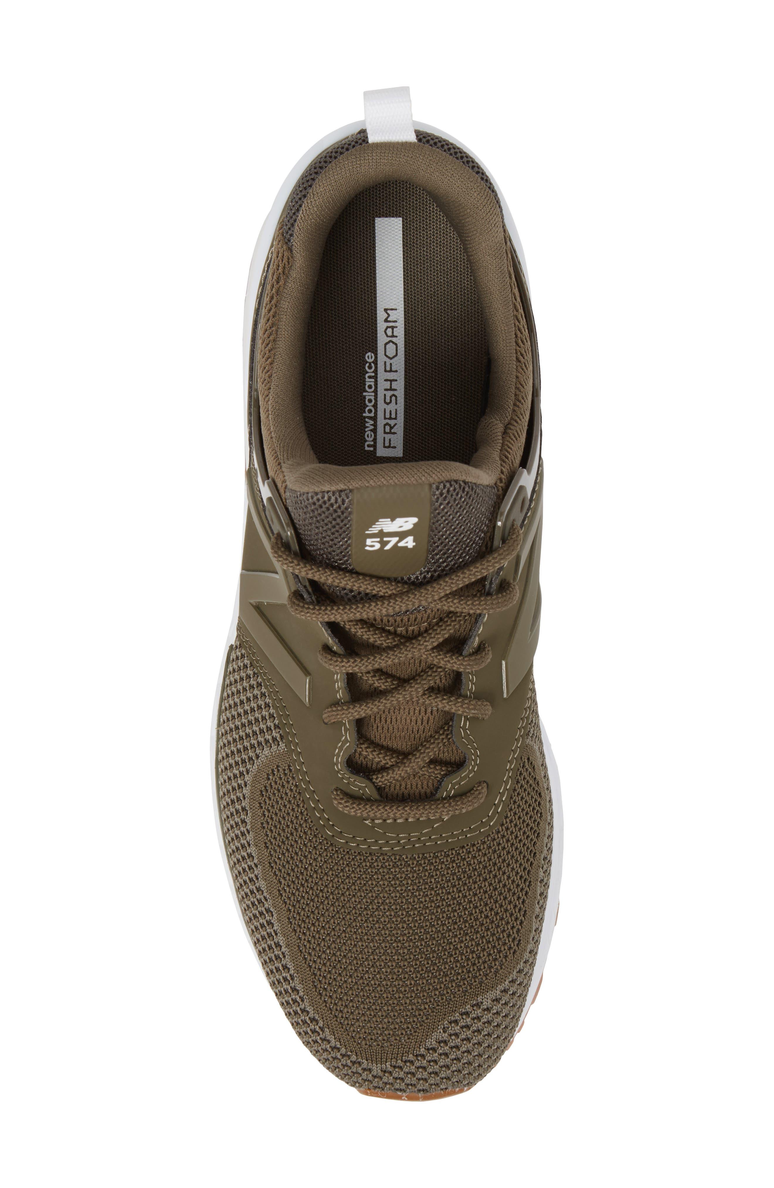 574 Engineered Mesh Sneaker,                             Alternate thumbnail 5, color,                             338