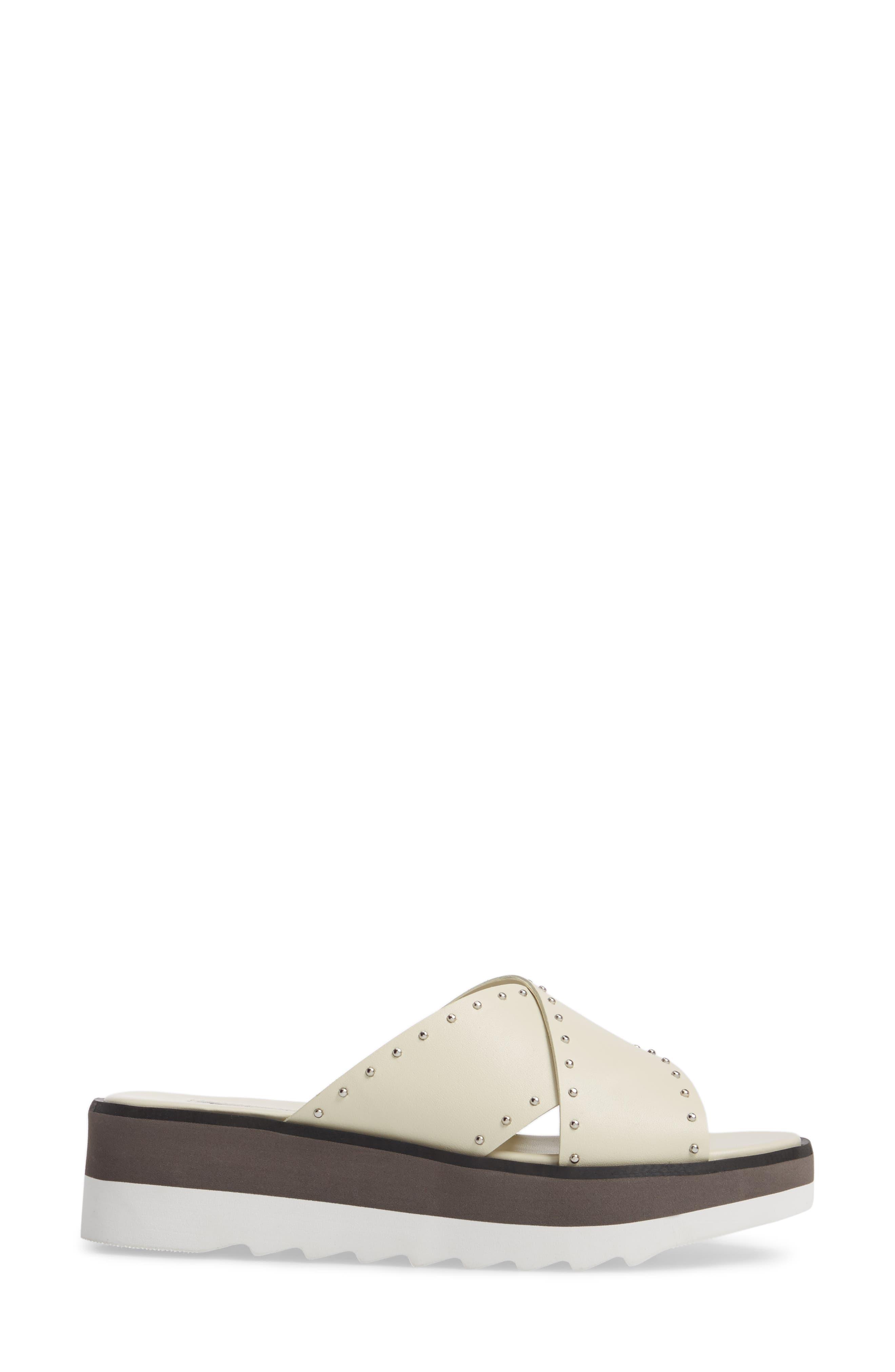 Buxom Sandal,                             Alternate thumbnail 3, color,                             WHITE LEATHER