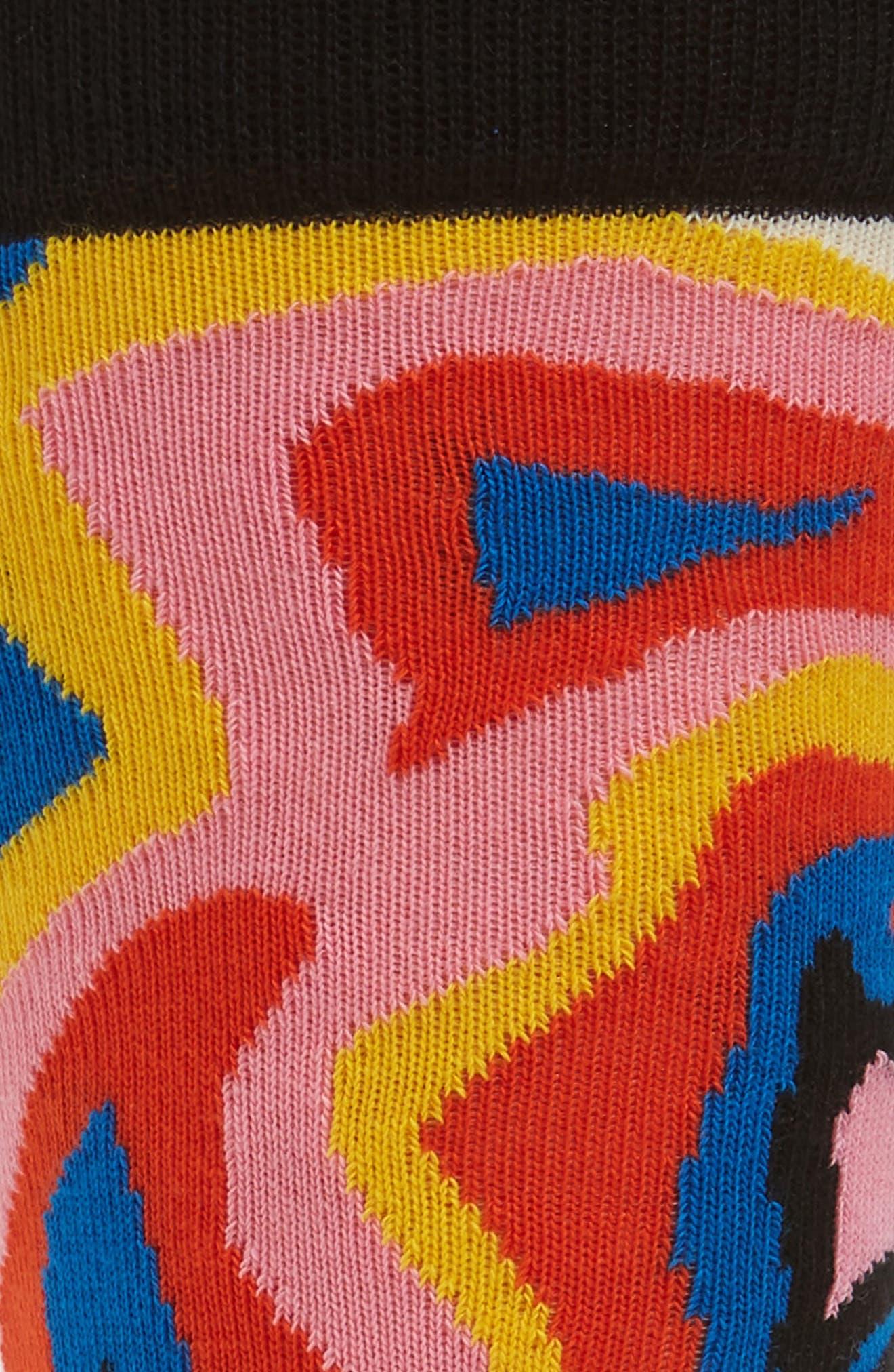 MRI Pattern Socks,                             Alternate thumbnail 2, color,                             008