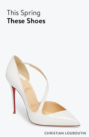 This spring, these shoes. Christian Louboutin pumps.