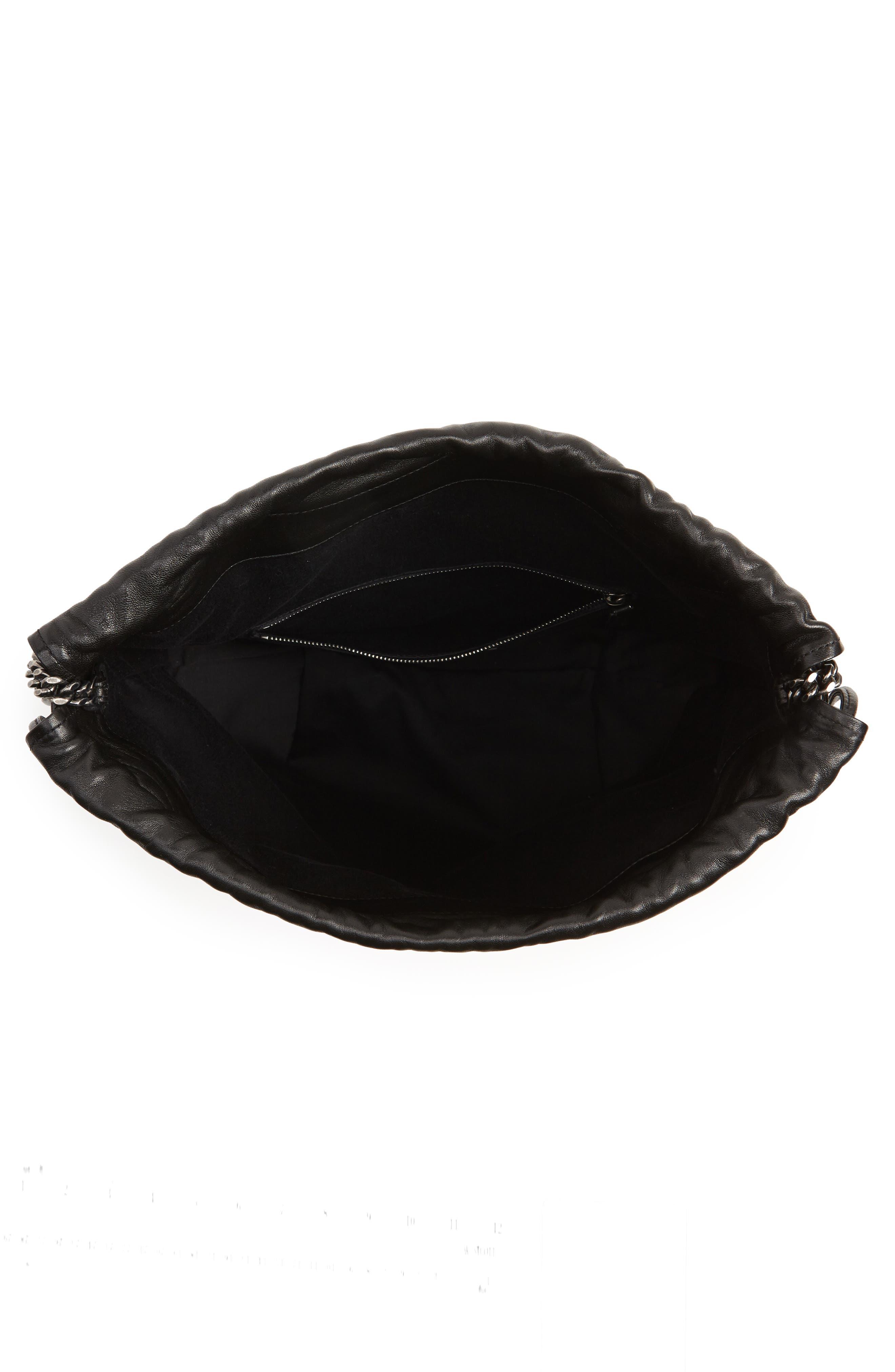Teddy Bandana Studded Leather Bucket Bag,                             Alternate thumbnail 4, color,                             NOIR