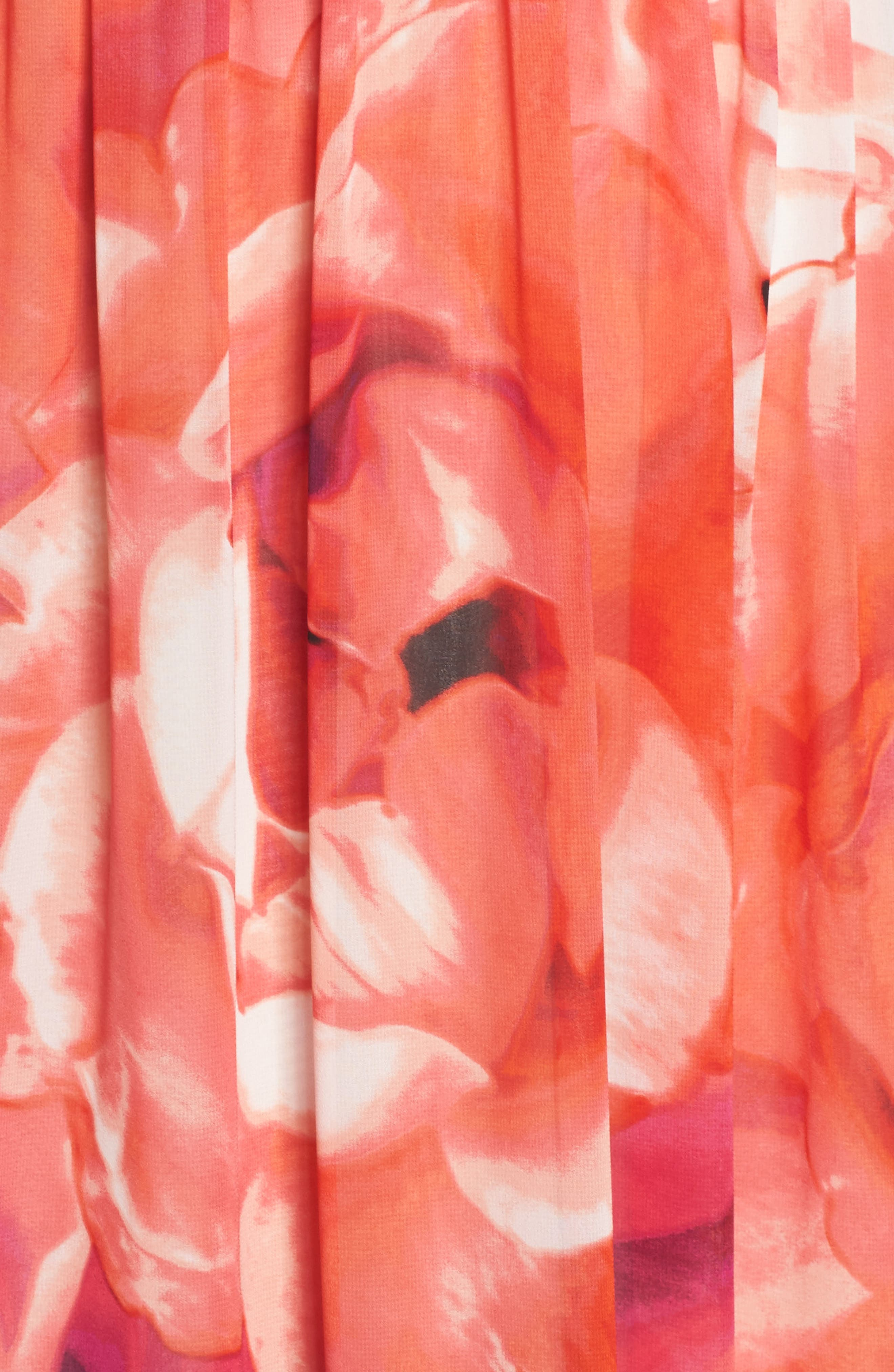 Print Chiffon Fit & Flare Maxi Dress,                             Alternate thumbnail 6, color,                             650