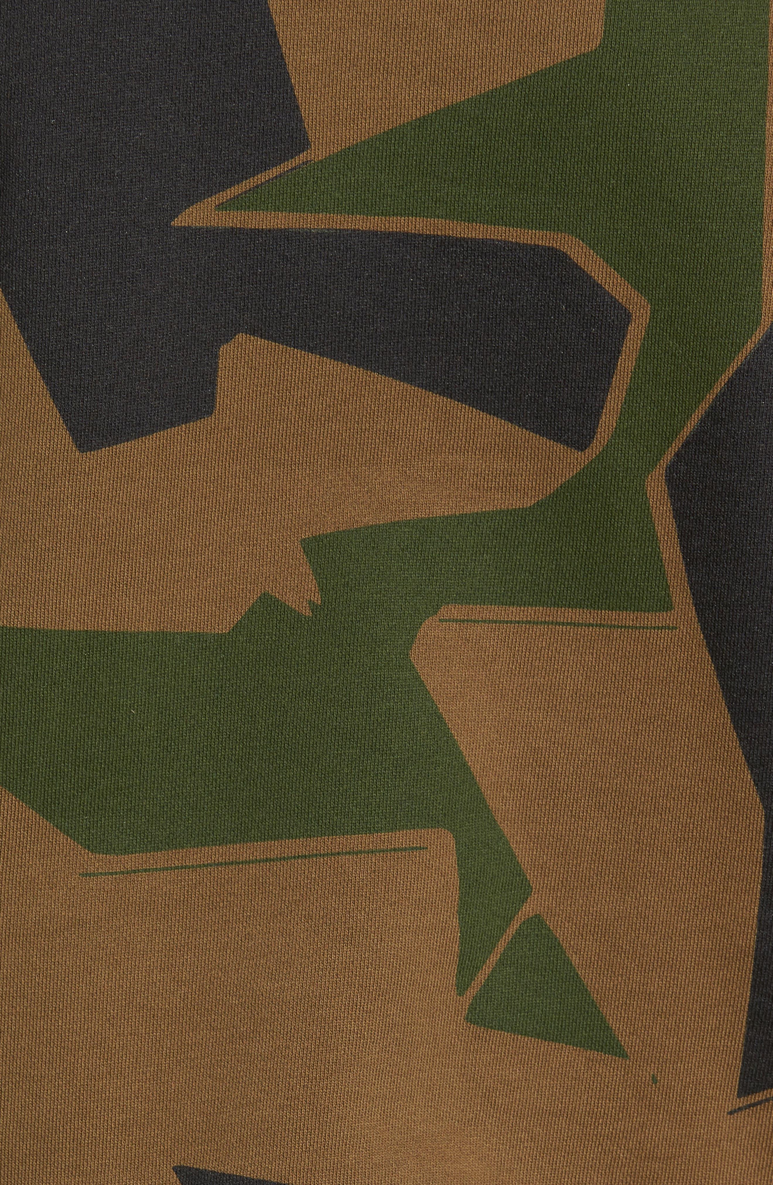 Camoflage Sweatshirt,                             Alternate thumbnail 5, color,                             WOODLAND CAMO
