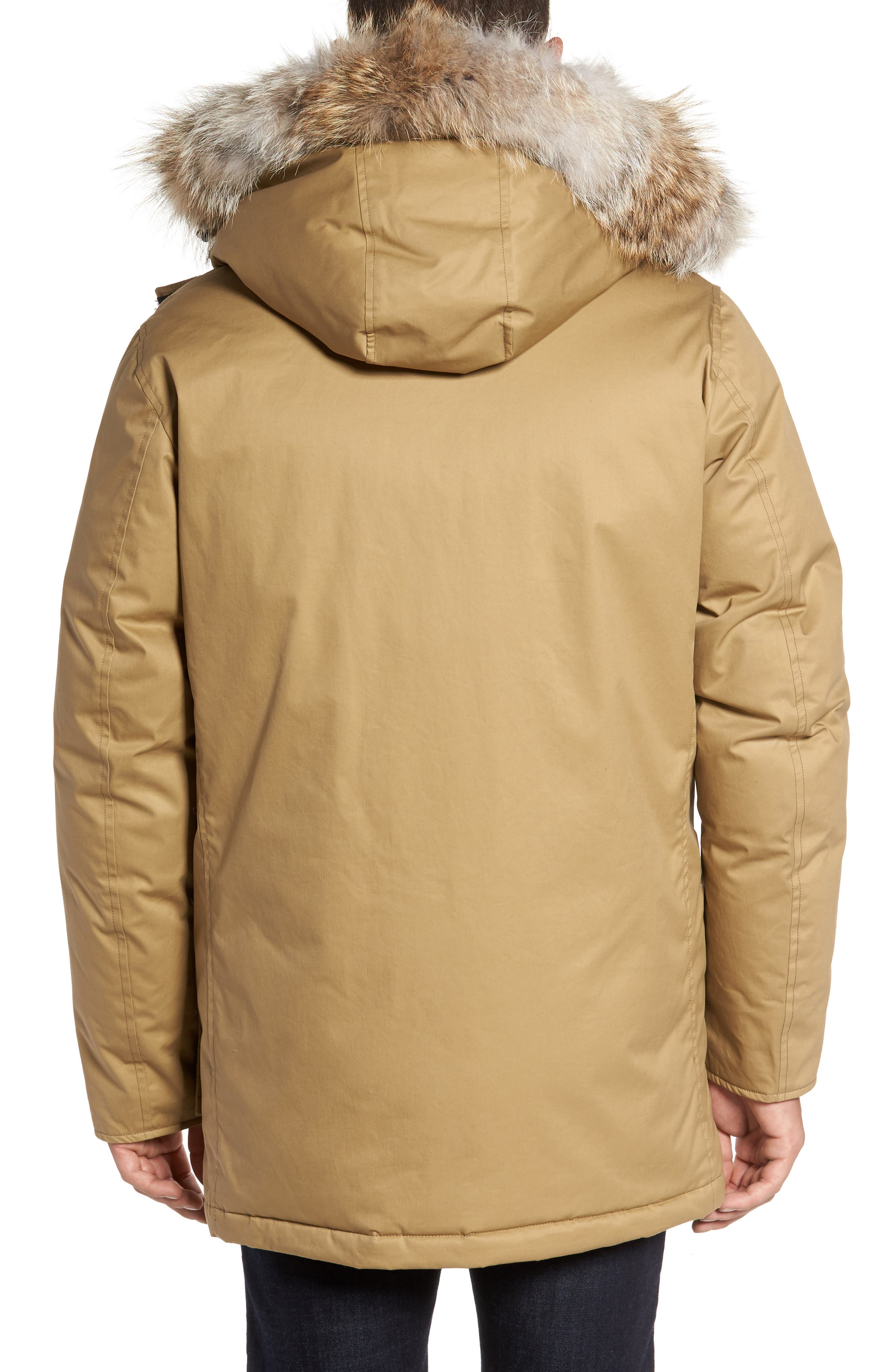 John Rich & Bros. Laminated Cotton Down Parka with Genuine Coyote Fur Trim,                             Alternate thumbnail 4, color,