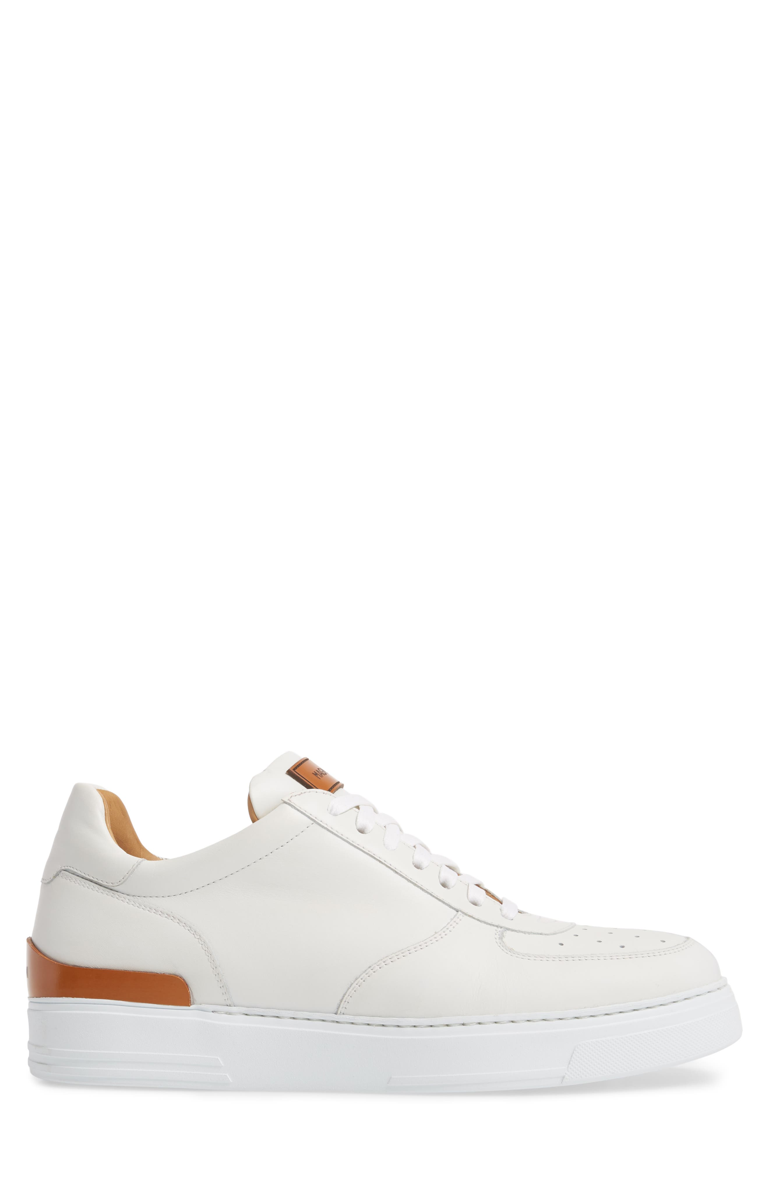 Vada Lo Lace Up Sneaker,                             Alternate thumbnail 3, color,                             WHITE LEATHER