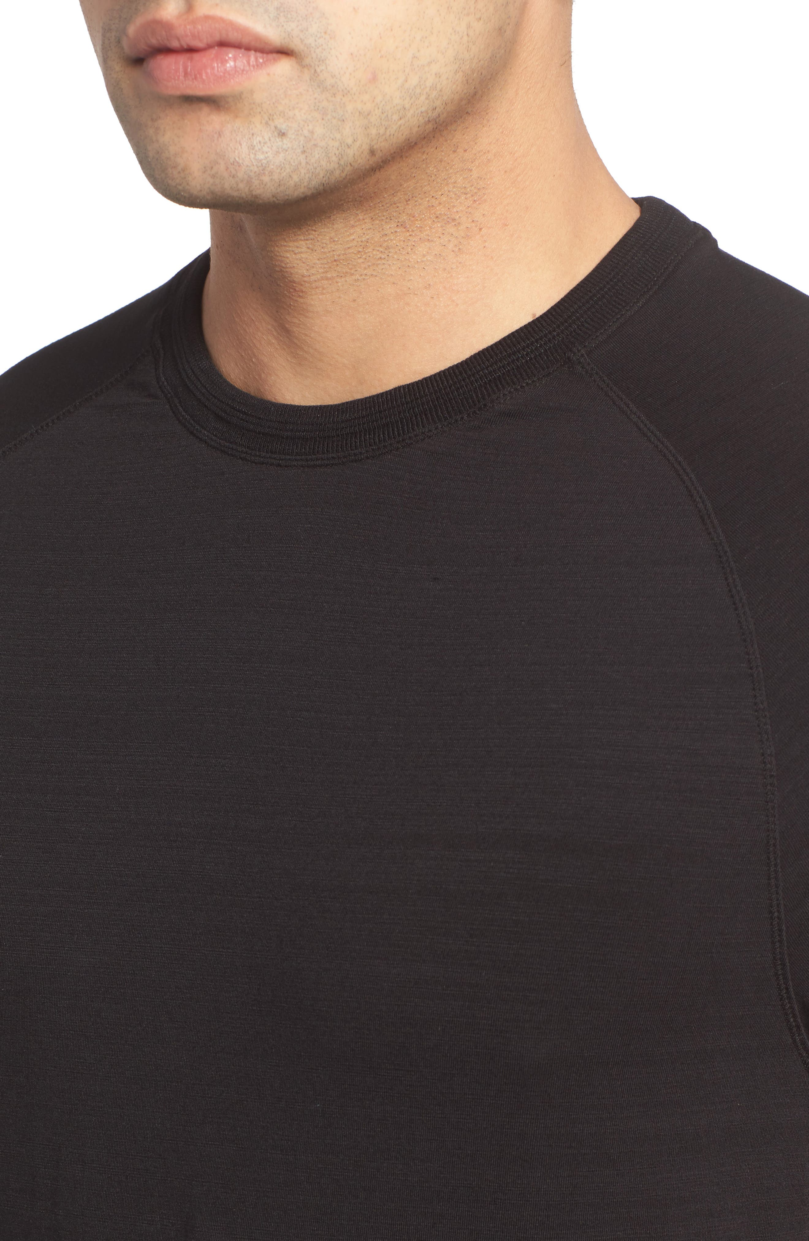 Riggs Stretch Slub Jersey T-Shirt,                             Alternate thumbnail 4, color,                             001