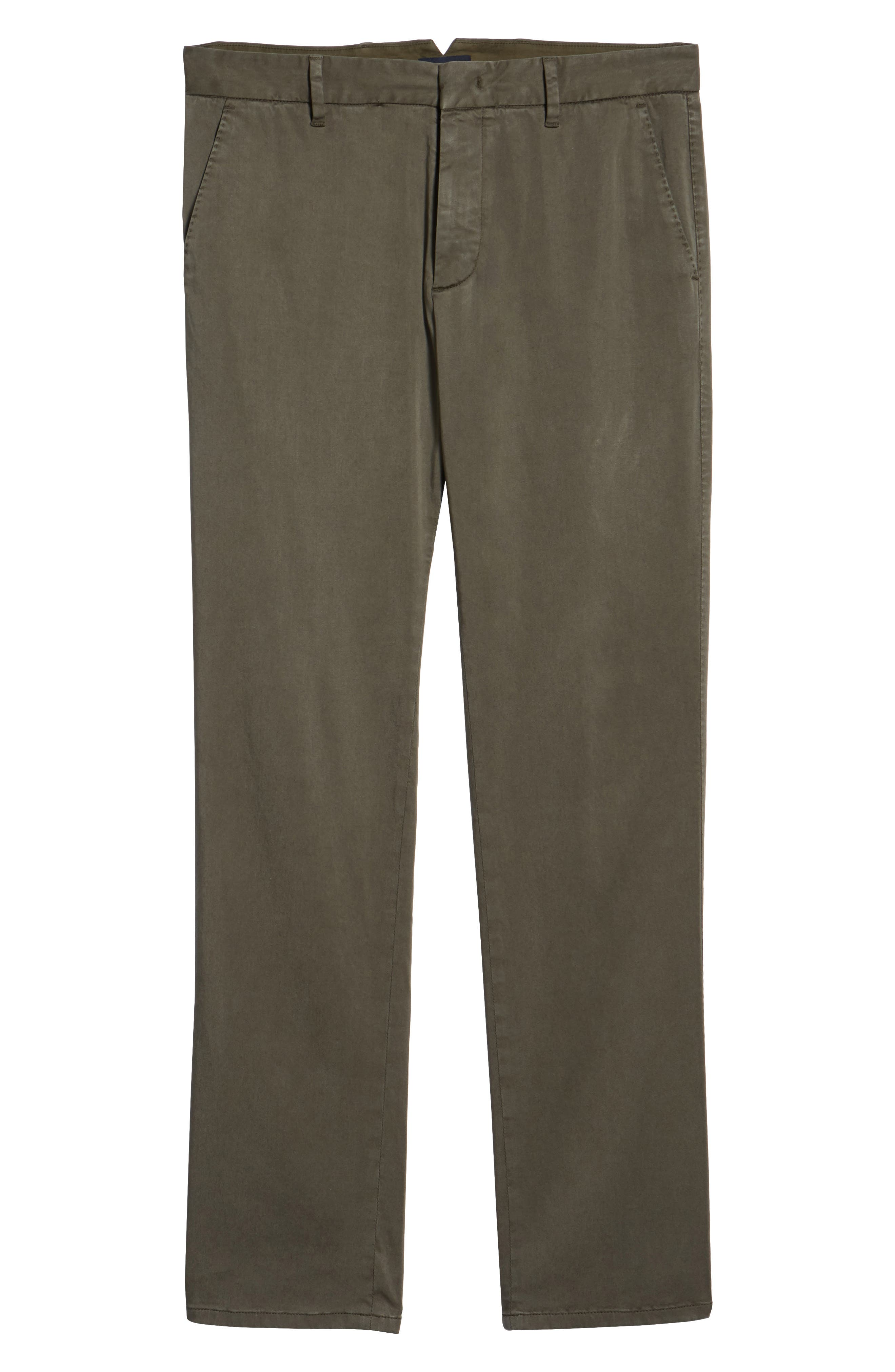 Aster Straight Fit Pants,                             Alternate thumbnail 6, color,                             OLIVE