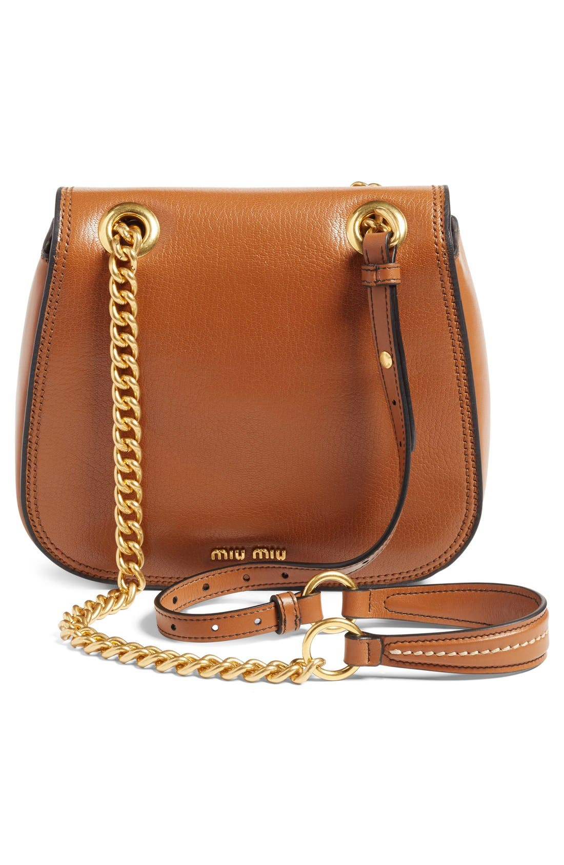 'Dahlia' Goatskin Leather Saddle Bag,                             Alternate thumbnail 6, color,