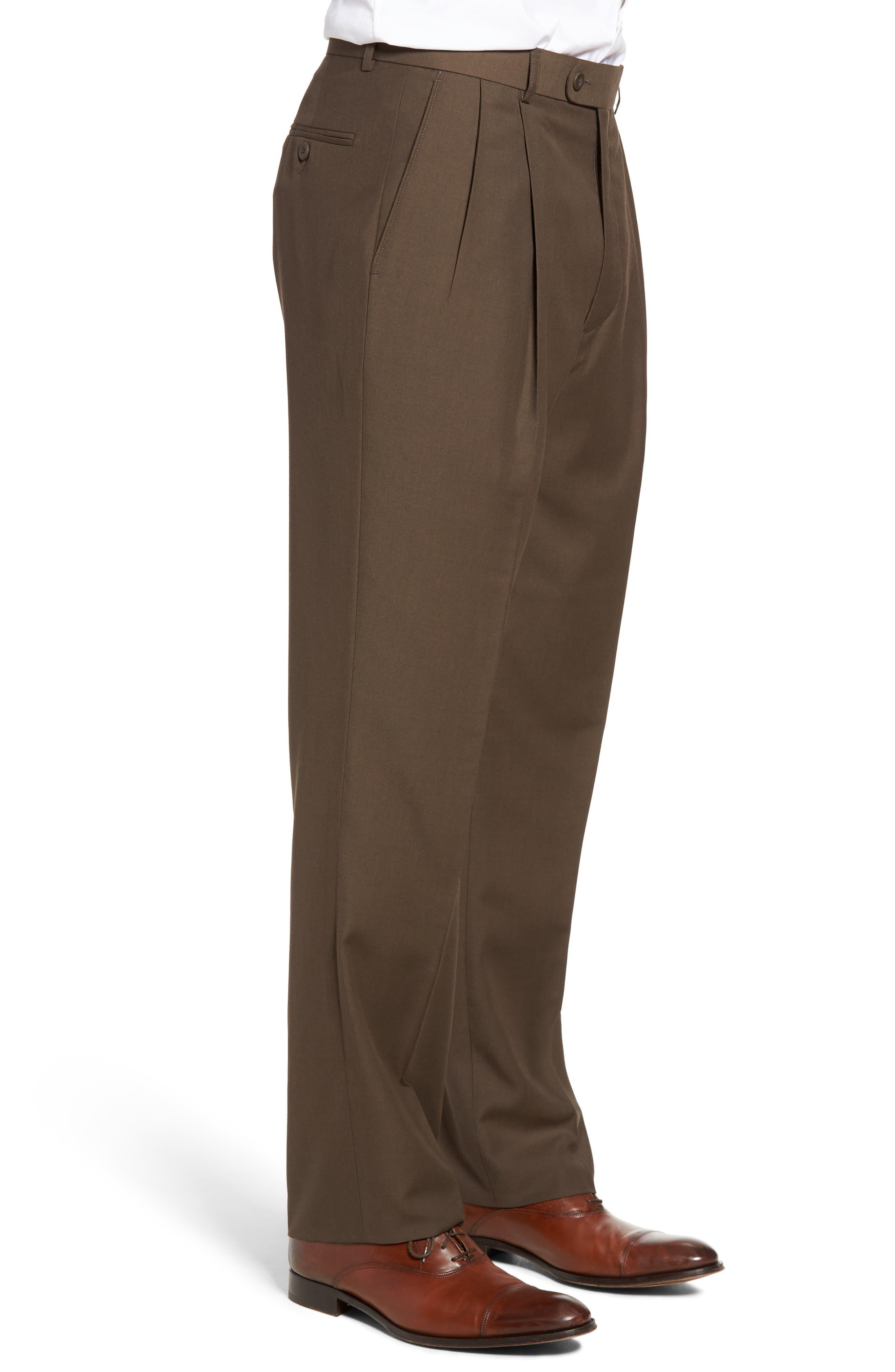 Pleated Microfiber Dress Pants,                             Alternate thumbnail 20, color,