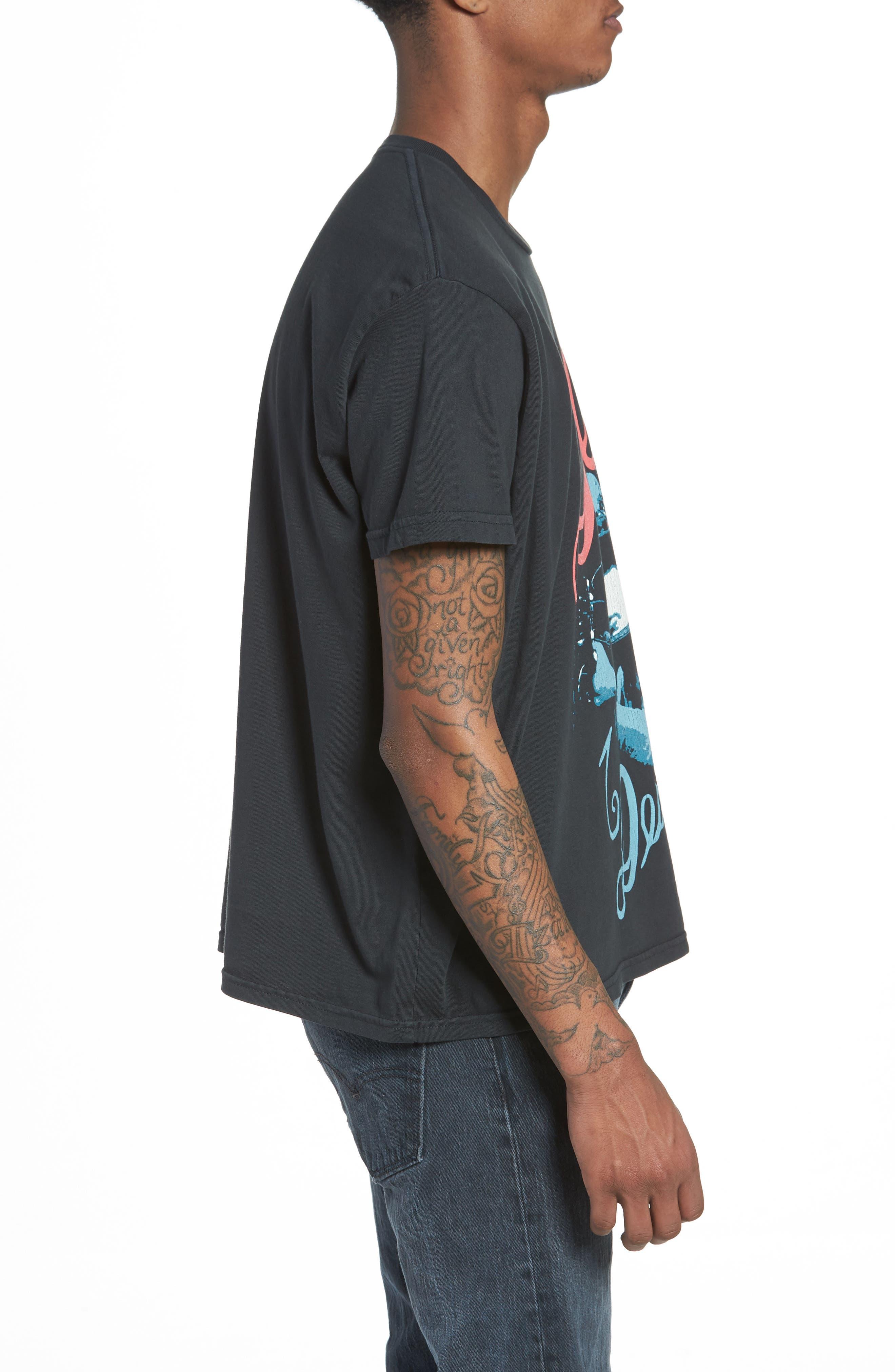Dylan Desire T-Shirt,                             Alternate thumbnail 3, color,                             DUSTY BLACK