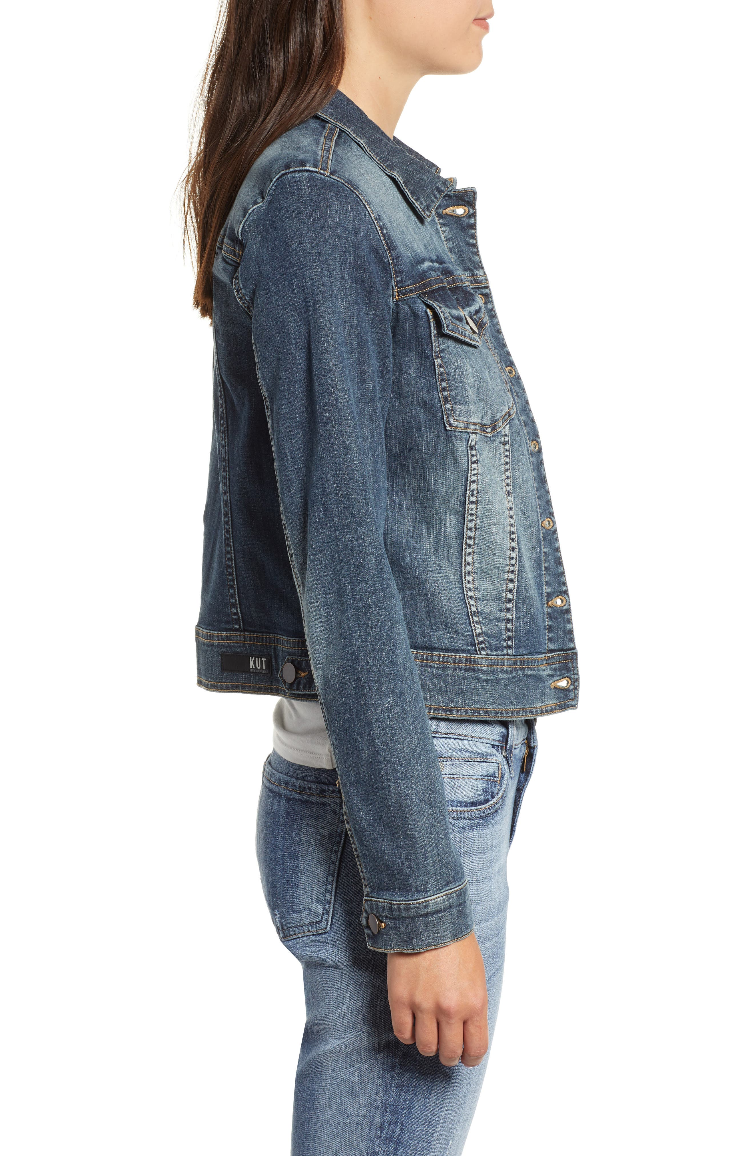 Helena Denim Jacket,                             Alternate thumbnail 3, color,                             477