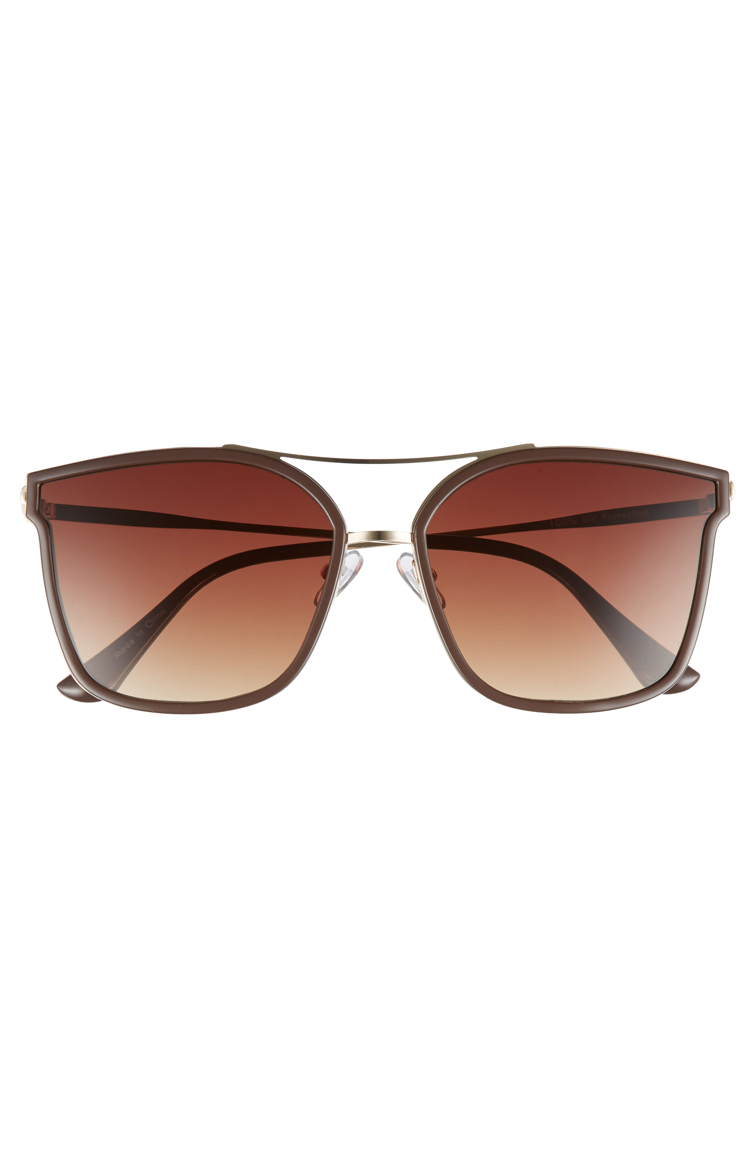 60mm Cat Eye Sunglasses,                             Alternate thumbnail 3, color,                             710