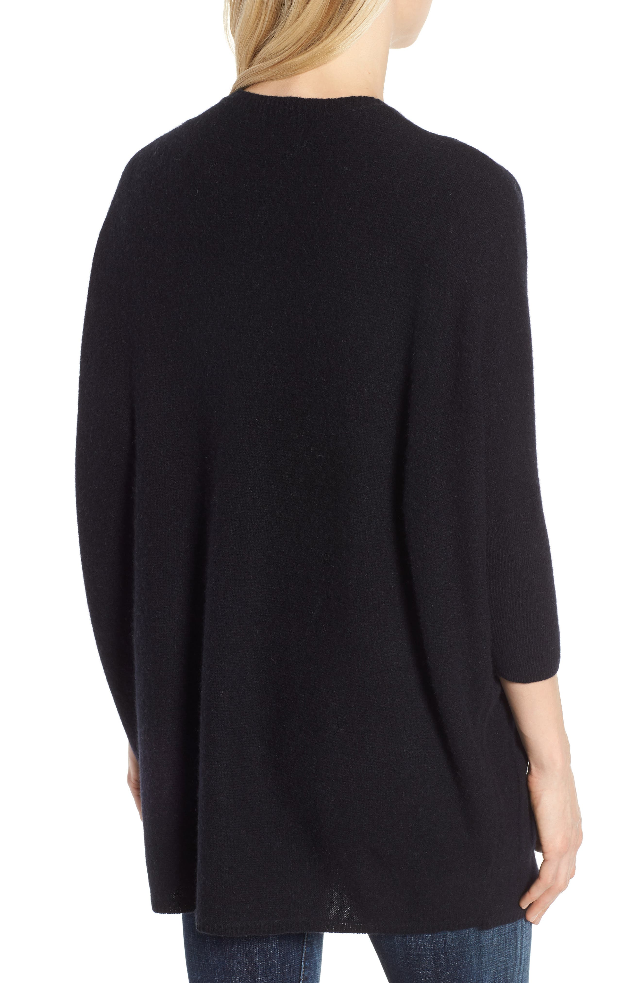 Cashmere Cardigan,                             Alternate thumbnail 2, color,                             BLACK