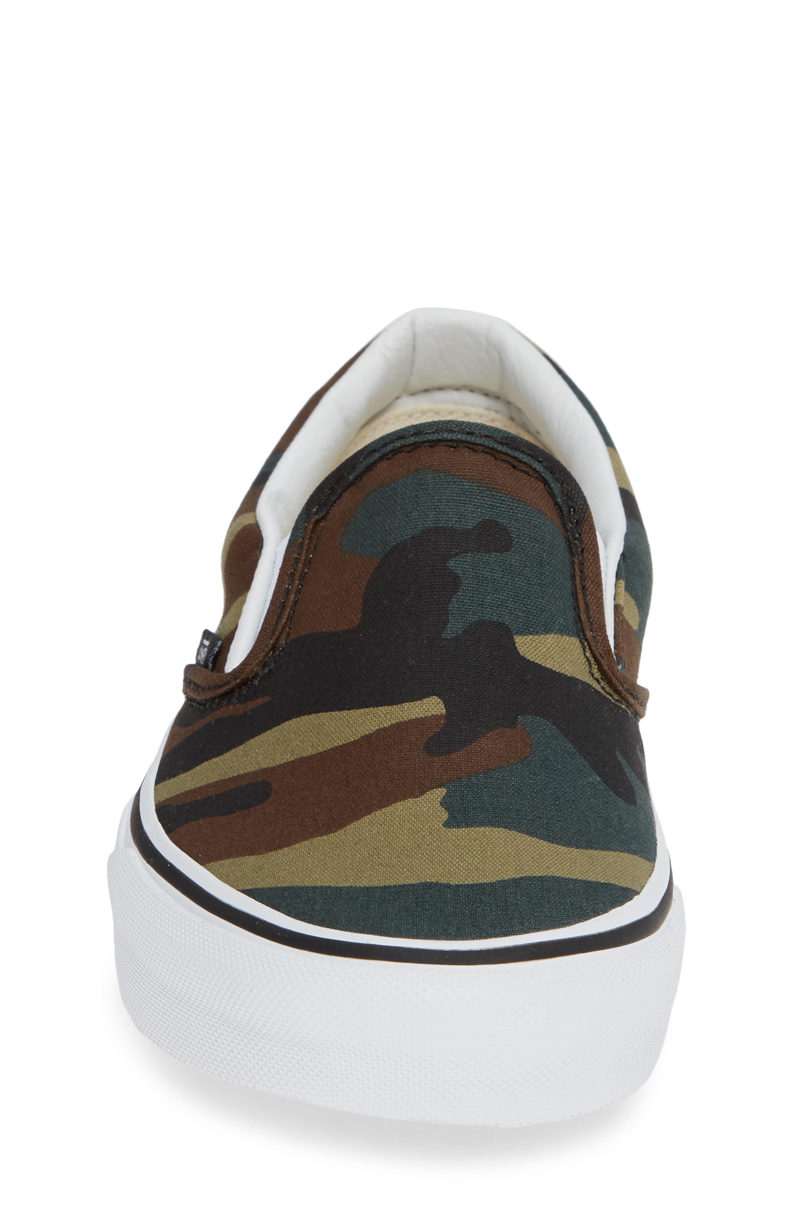 Classic Slip-On Sneaker,                             Alternate thumbnail 4, color,                             001