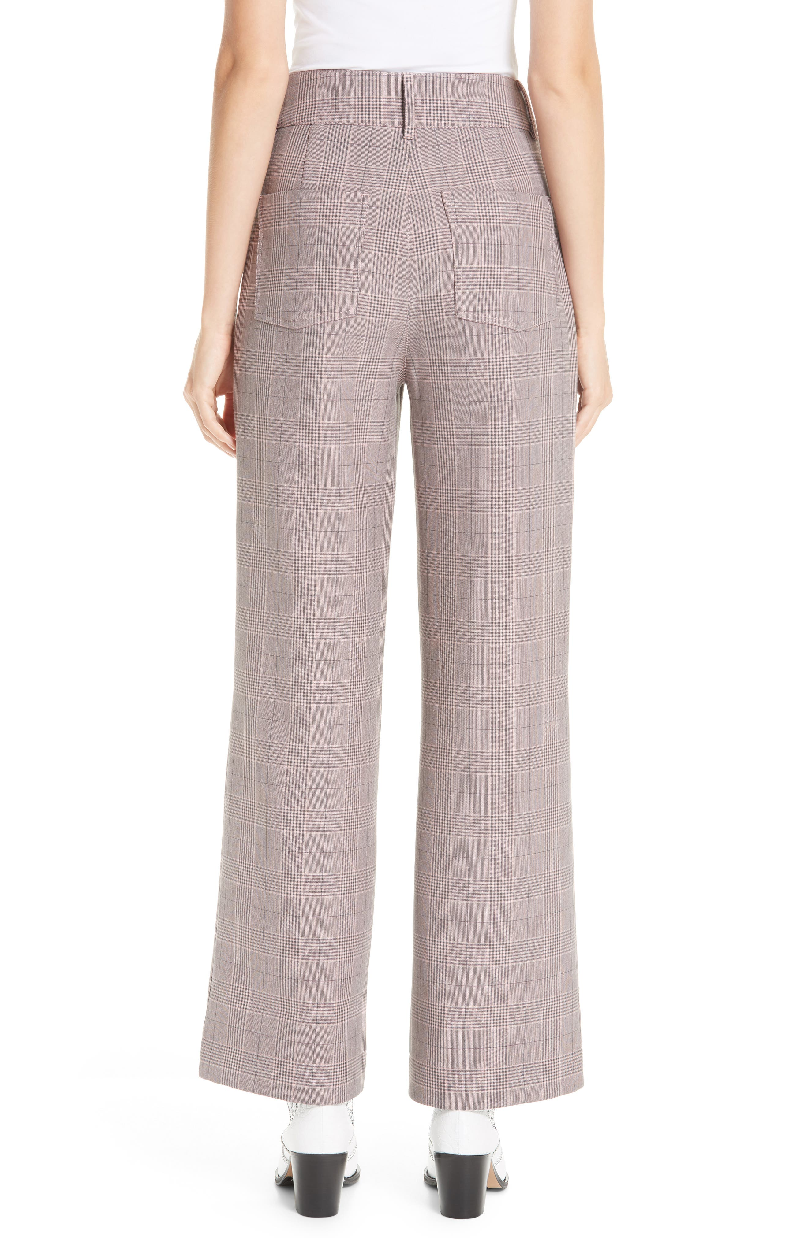 GANNI,                             Suiting Pants,                             Alternate thumbnail 2, color,                             SILVER PINK 499