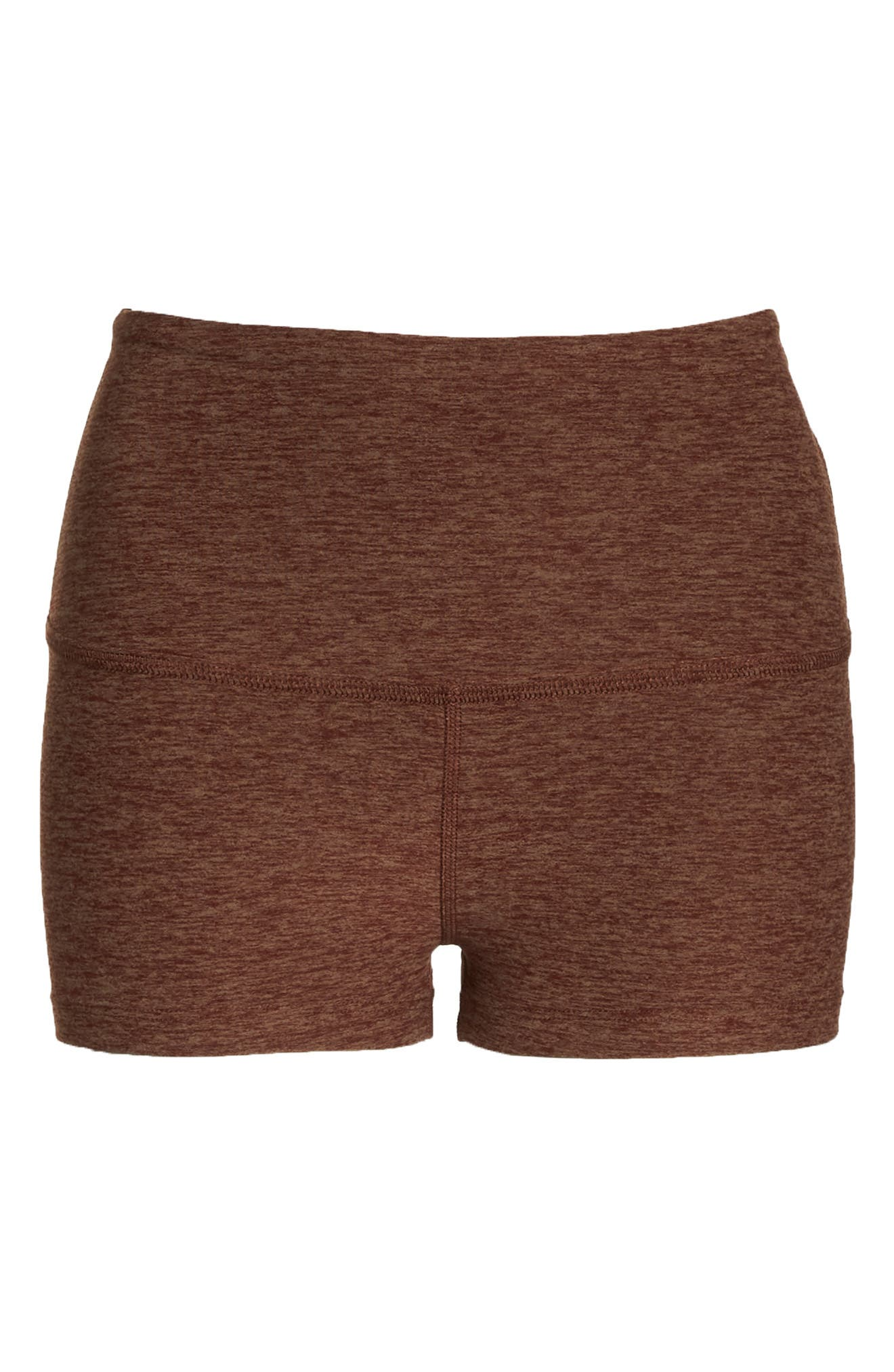 Space Dye Circuit High Waist Shorts,                             Alternate thumbnail 7, color,                             RED ROCK/ TUMBLEWEED