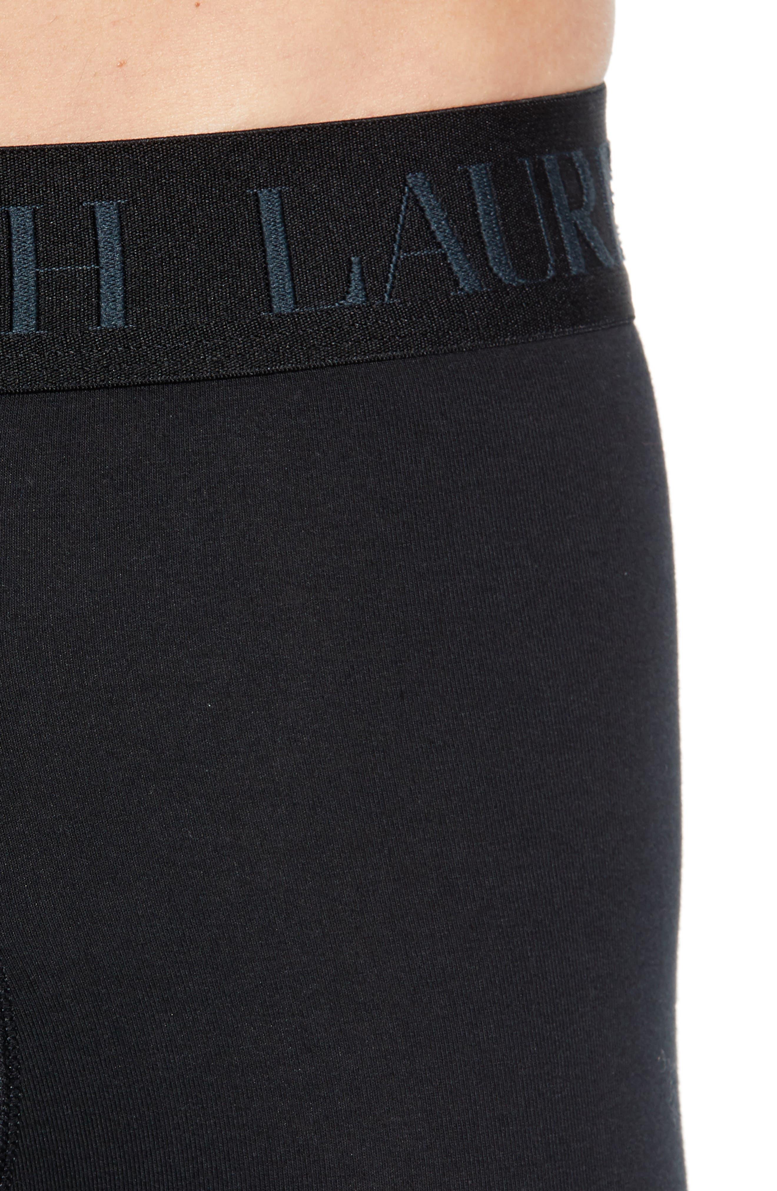 POLO RALPH LAUREN,                             2-Pack Cotton & Modal Boxer Briefs,                             Alternate thumbnail 5, color,                             POLO BLACK
