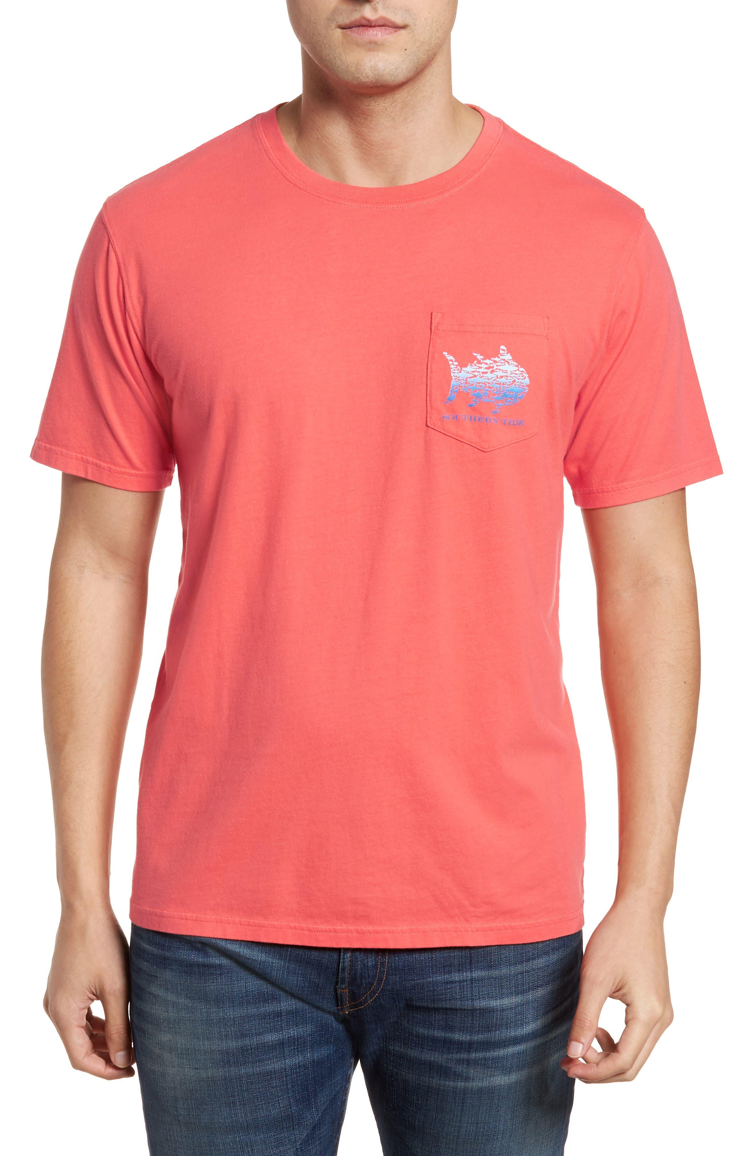 School Of Sharks Crewneck Cotton T-Shirt,                         Main,                         color, 682