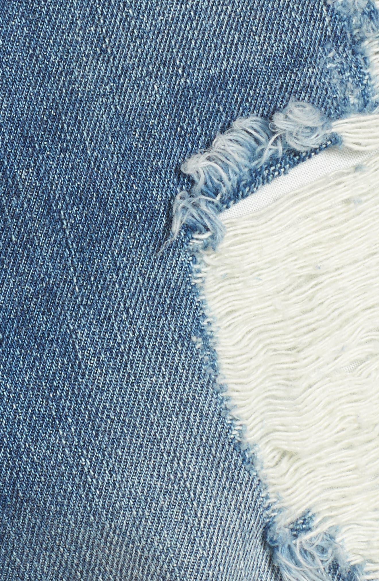 Wyoming High Waist Cutoff Denim Shorts,                             Alternate thumbnail 5, color,                             400