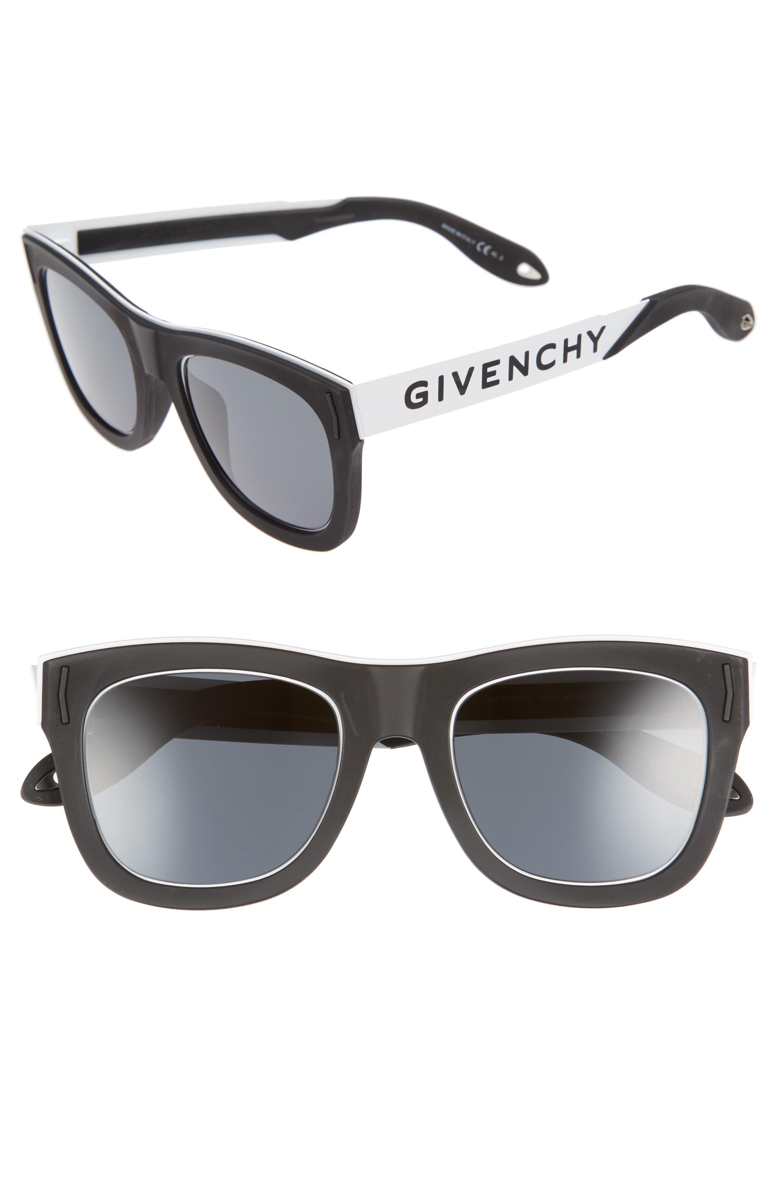 52mm Gradient Lens Sunglasses,                         Main,                         color, 001