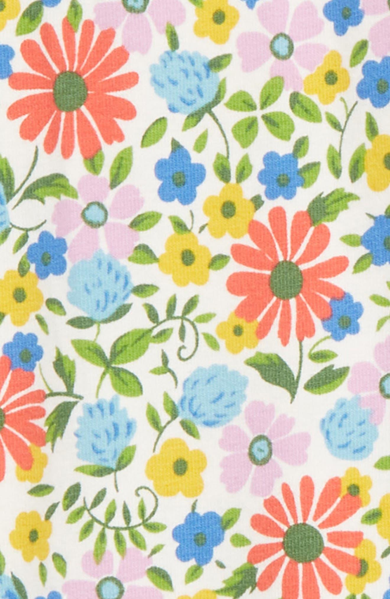 MINI BODEN,                             Floral Print Leggings,                             Alternate thumbnail 2, color,                             MUL MULTI JOLLY FLORAL