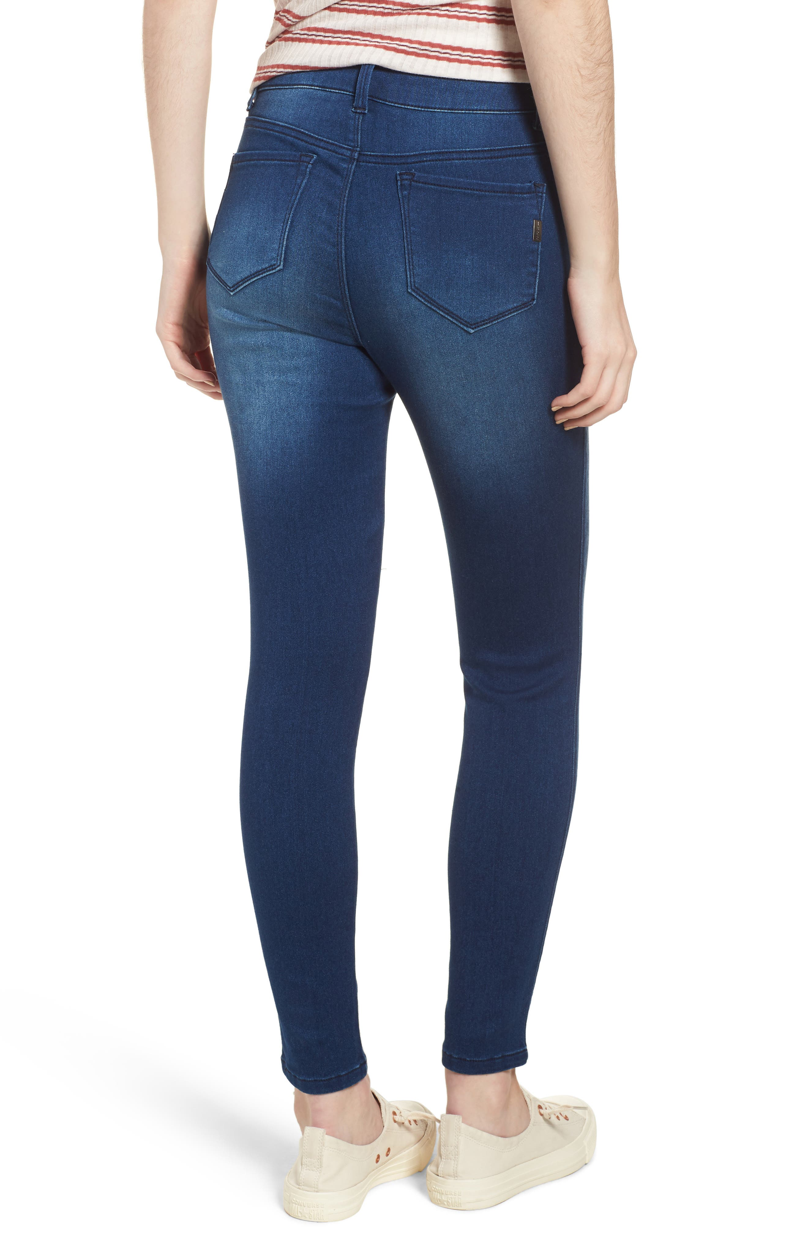 Butter High Waist Skinny Ankle Jeans,                             Alternate thumbnail 2, color,                             DONNA