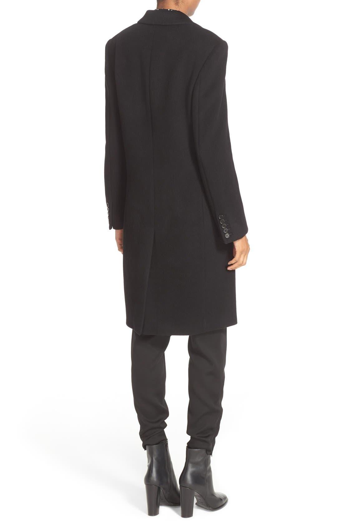 JOSEPH,                             Mart Wool & Cashmere Coat,                             Alternate thumbnail 2, color,                             001