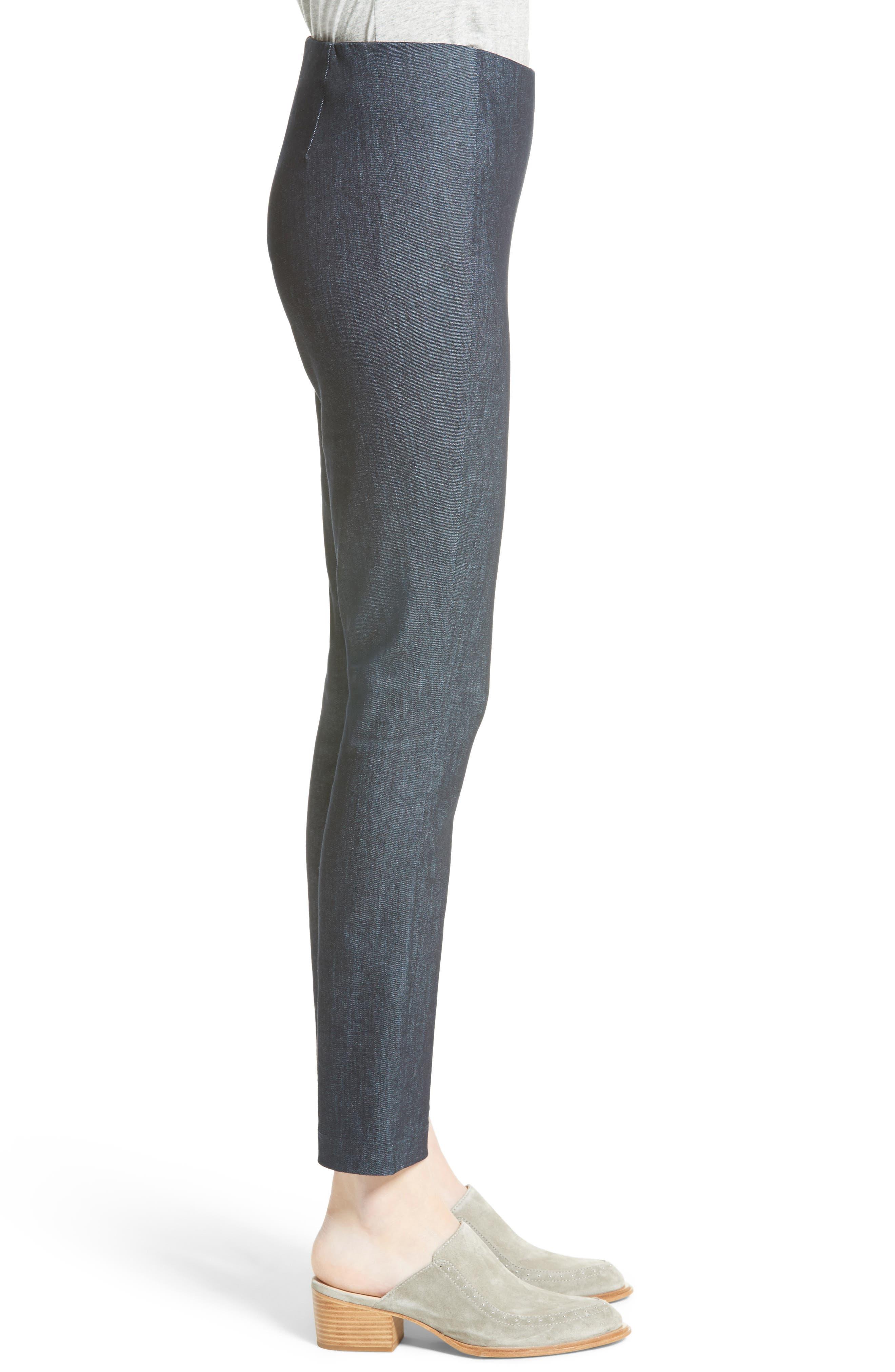 Simone Slim Ankle Pants,                             Alternate thumbnail 3, color,                             INDIGO