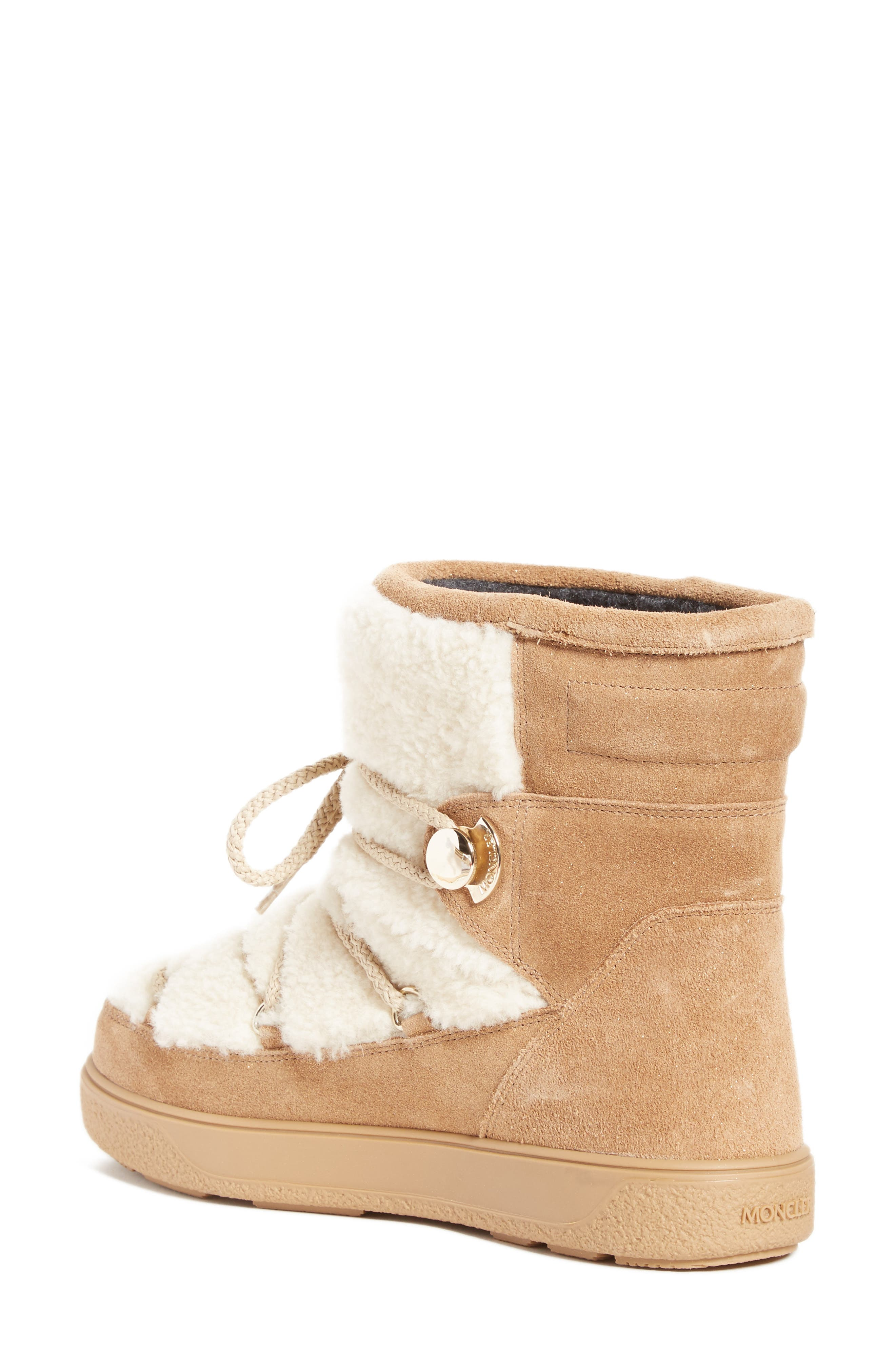 New Fanny Stivale Genuine Shearling Short Moon Boots,                             Alternate thumbnail 2, color,