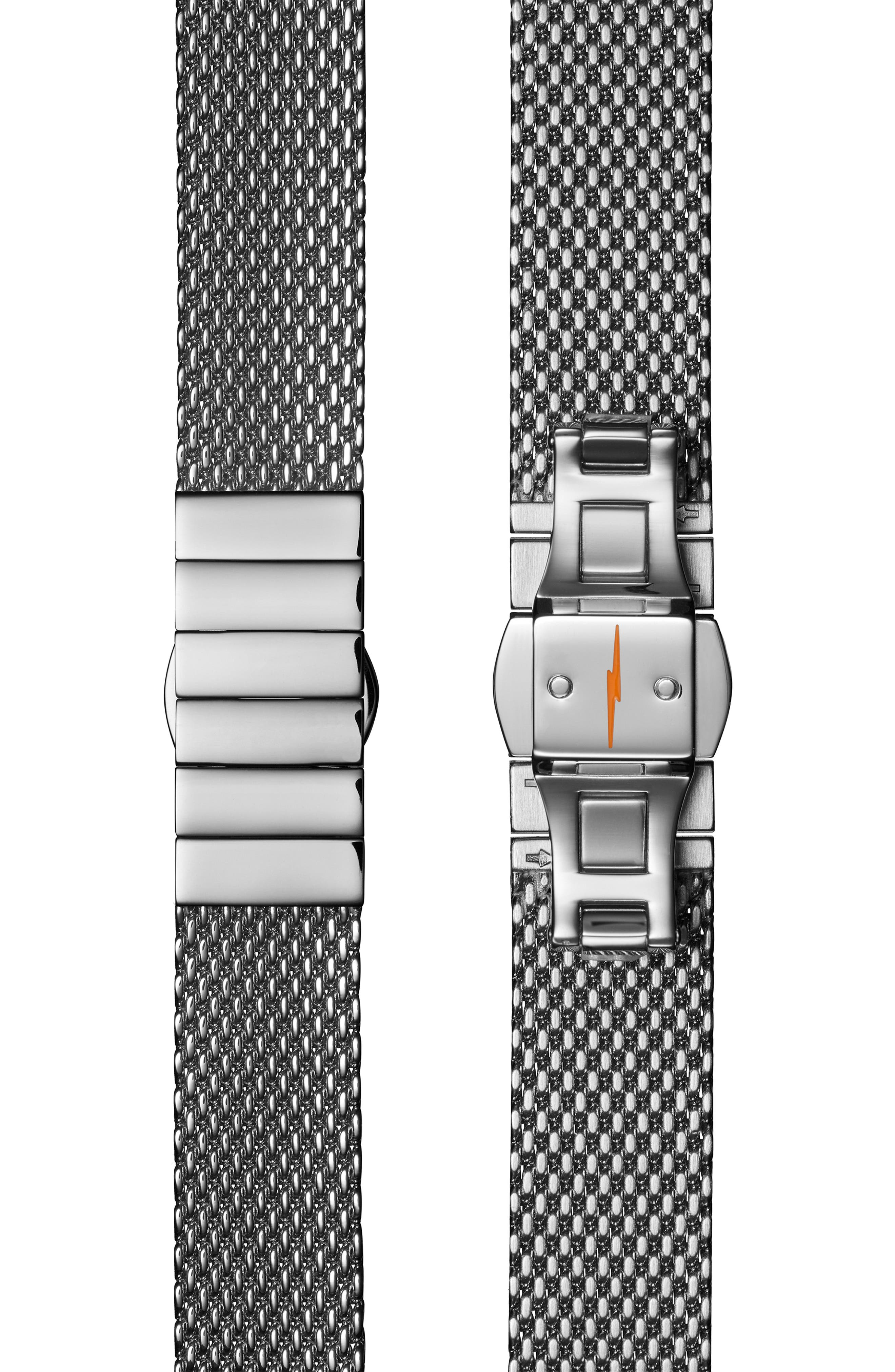 The Canfield Mesh Strap Watch, 38mm,                             Alternate thumbnail 4, color,                             SILVER/ ALABASTER/ SILVER