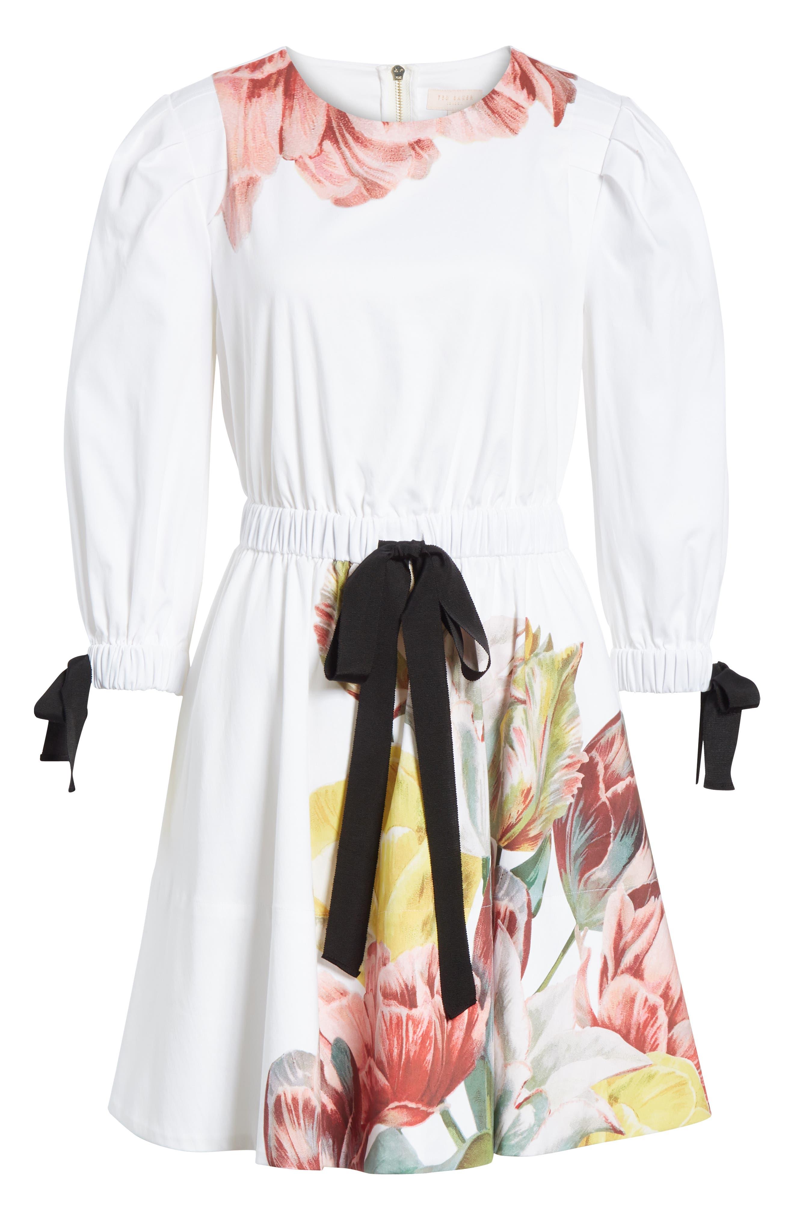 Tranquility Stretch Cotton Dress,                             Alternate thumbnail 6, color,                             110