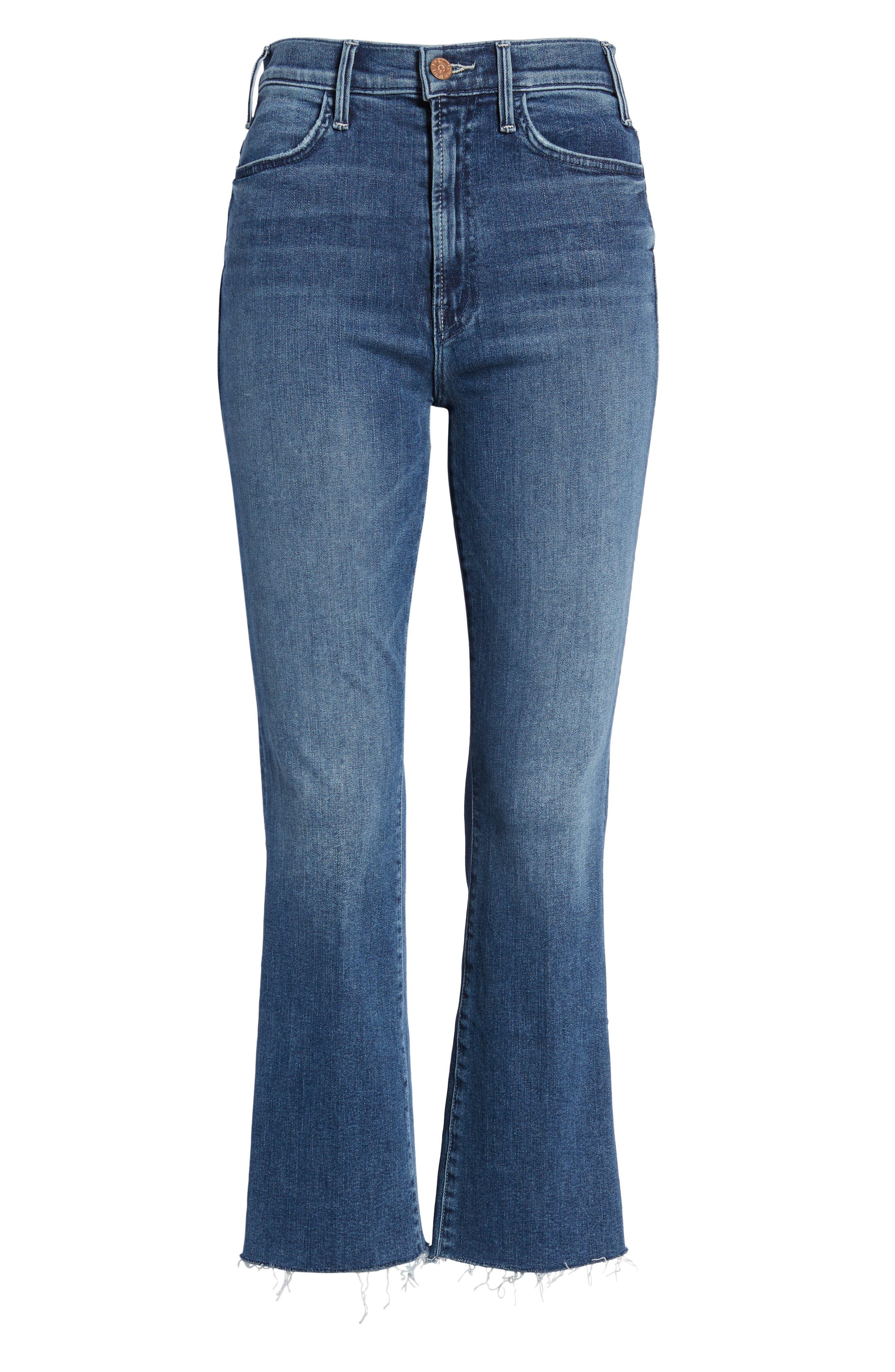 Hustler Fray Ankle Bootcut Jeans,                             Alternate thumbnail 7, color,                             GROOVIN