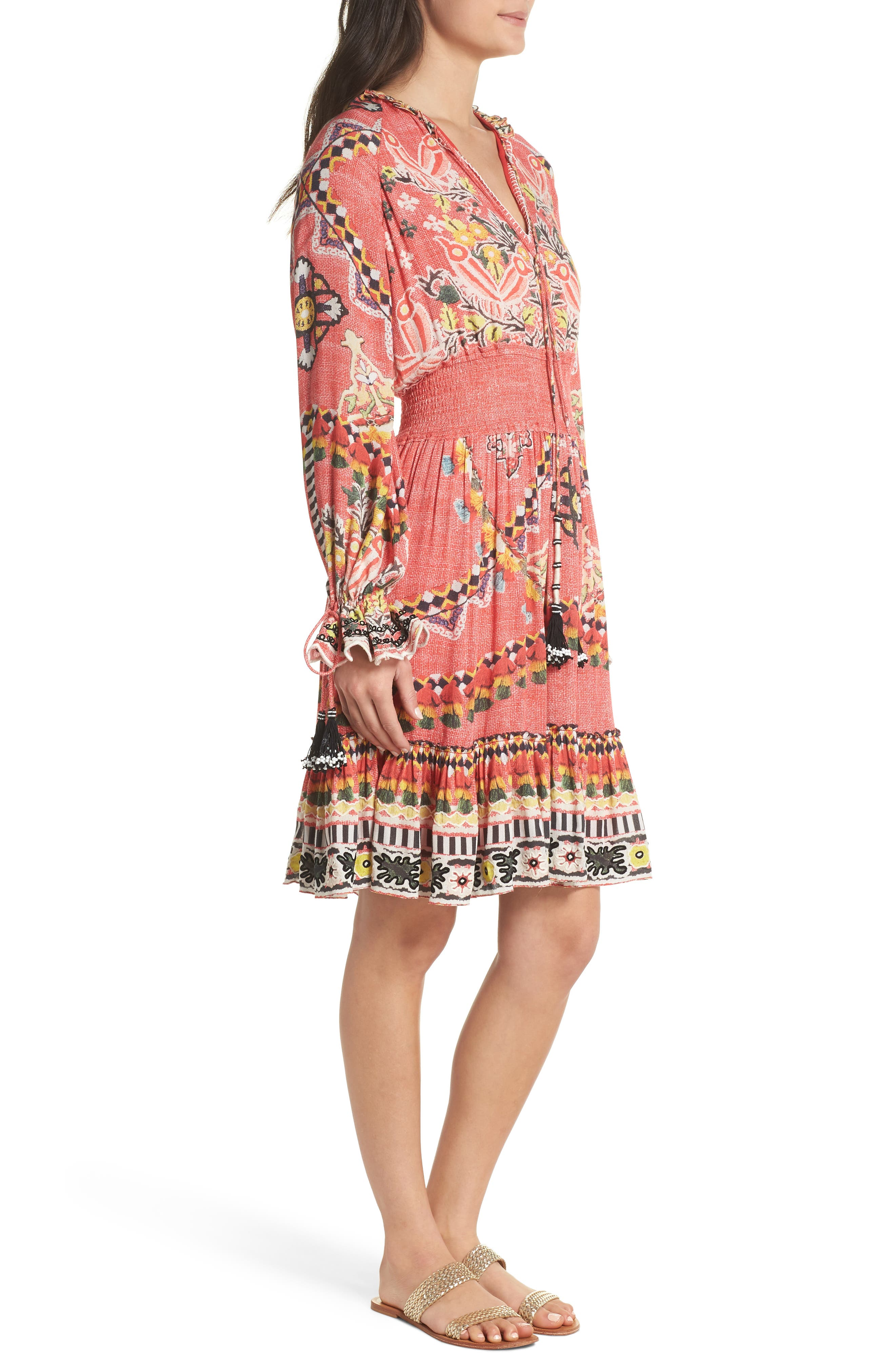 Hemant & Nandita Short Cover-Up Dress,                             Alternate thumbnail 3, color,                             605