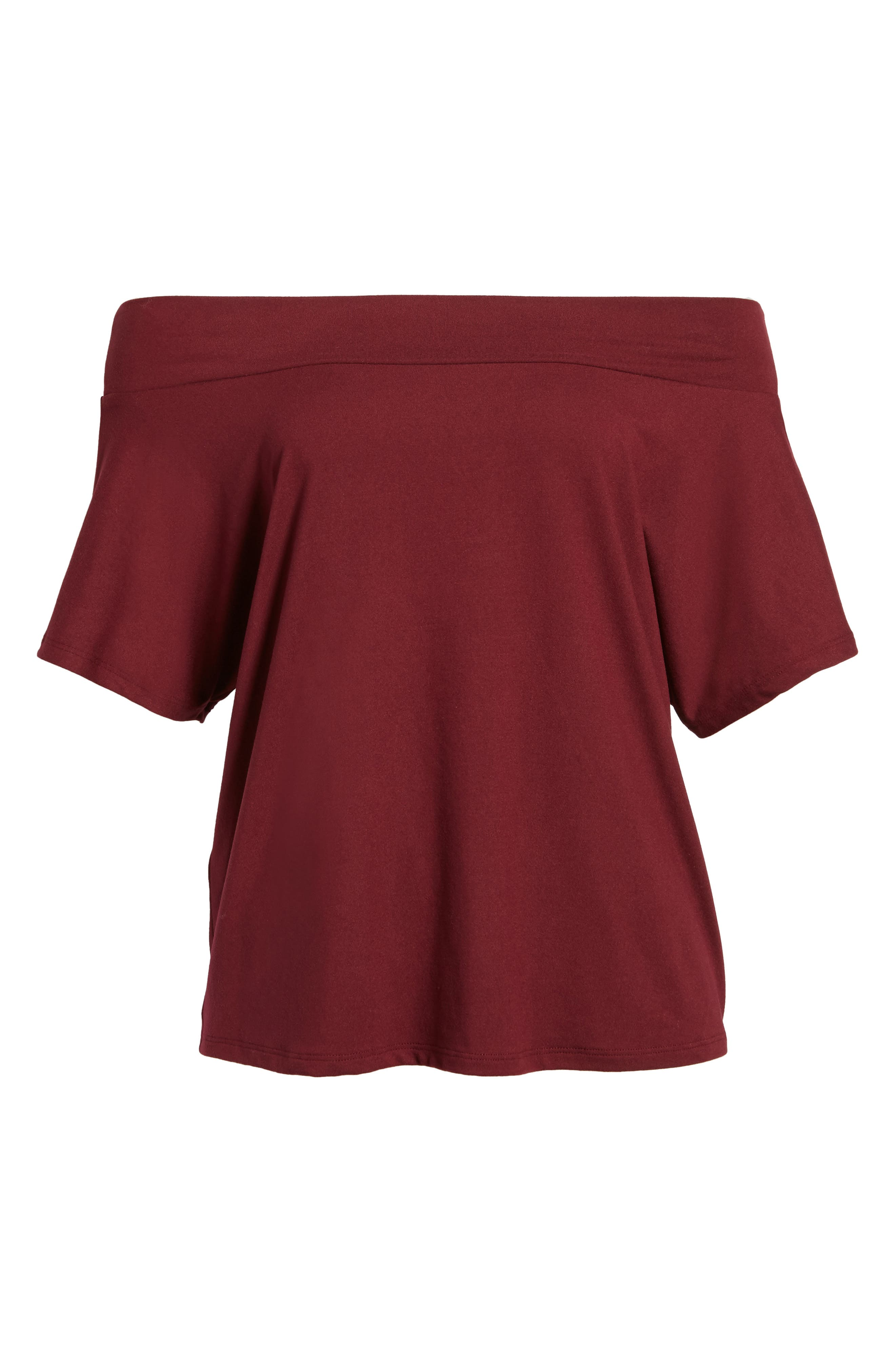 Dolman Sleeve Off the Shoulder Tee,                             Alternate thumbnail 6, color,                             930